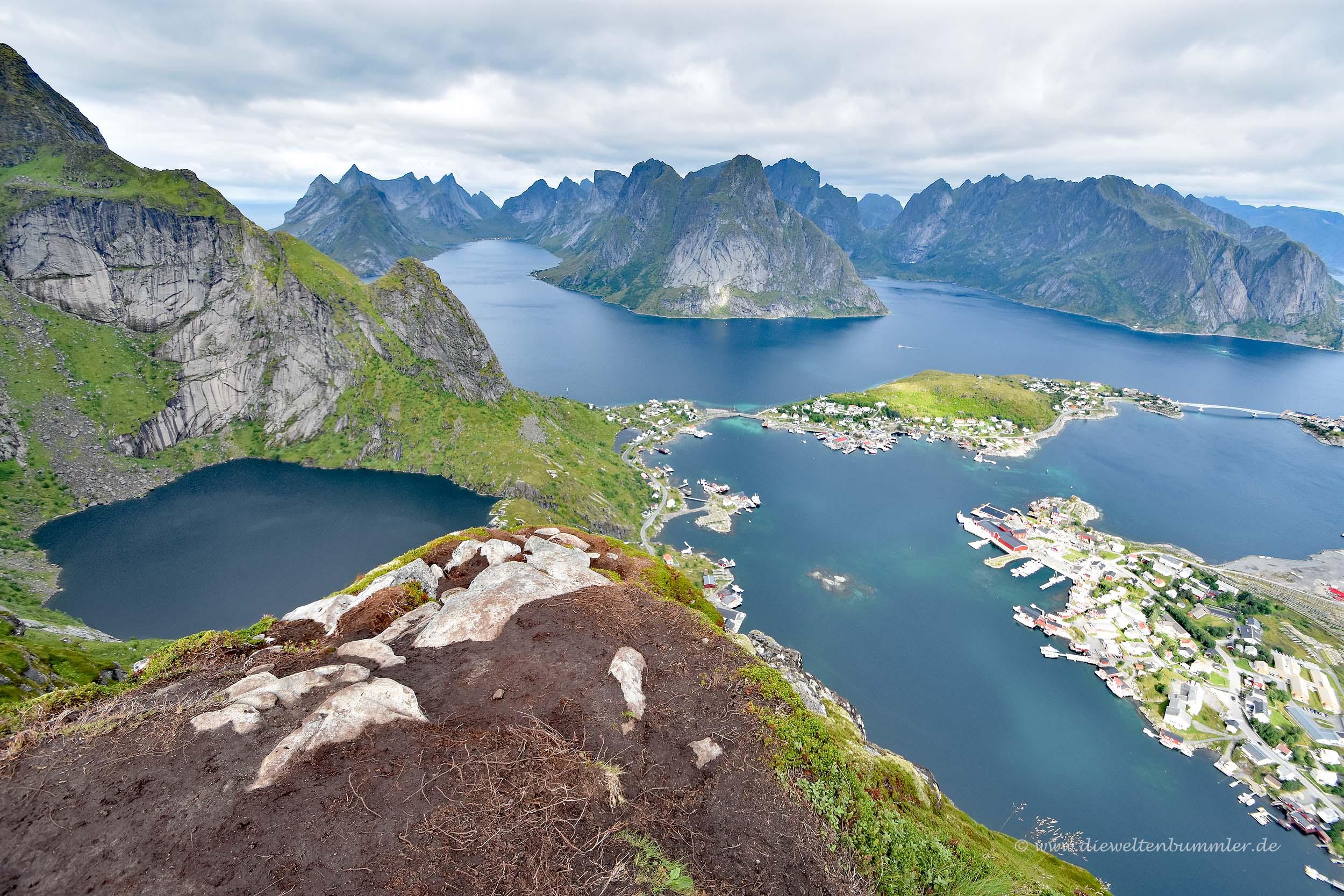 Teile der Insel Moskenesøy