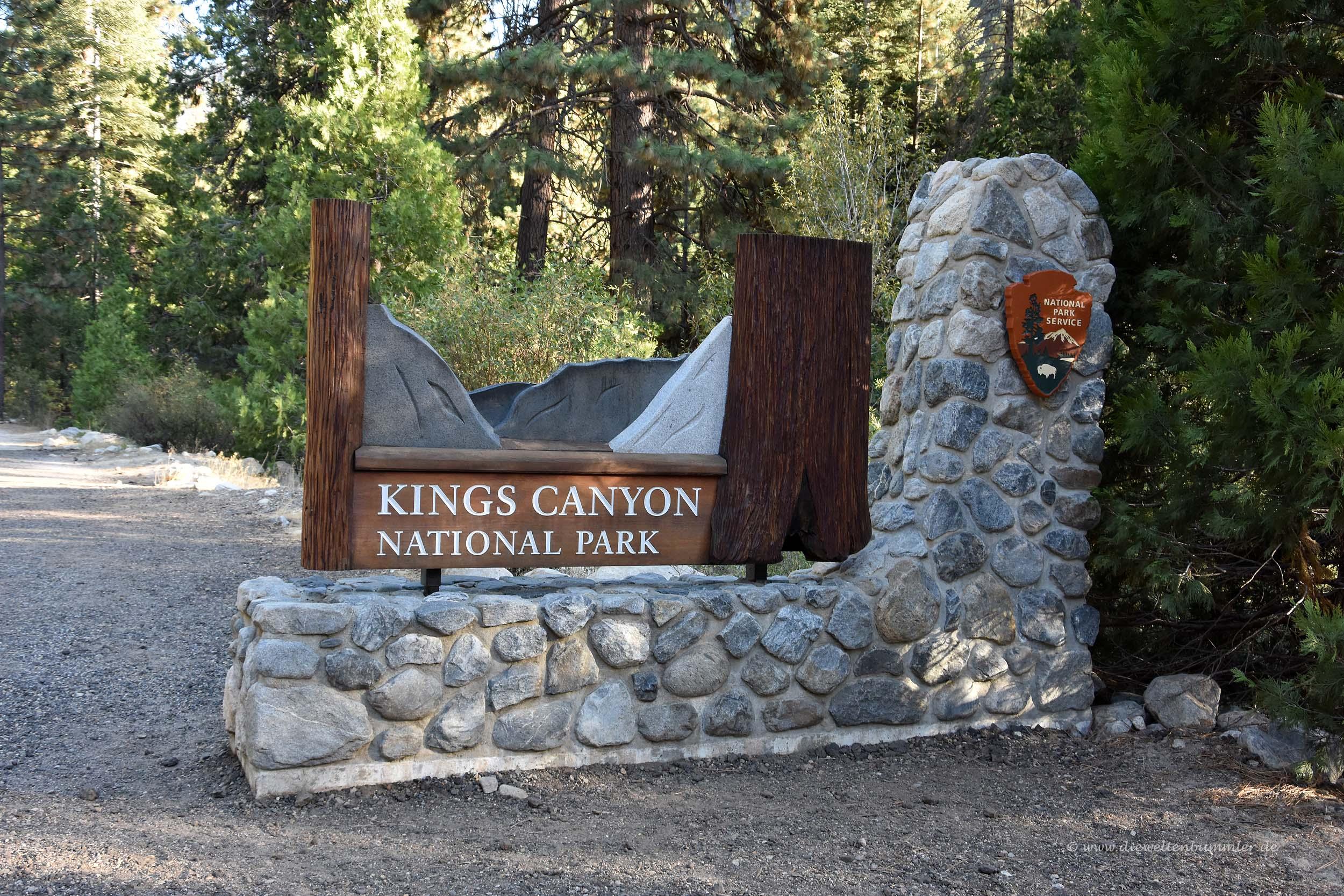 Zufahrt zum Kings Canyon Nationalpark