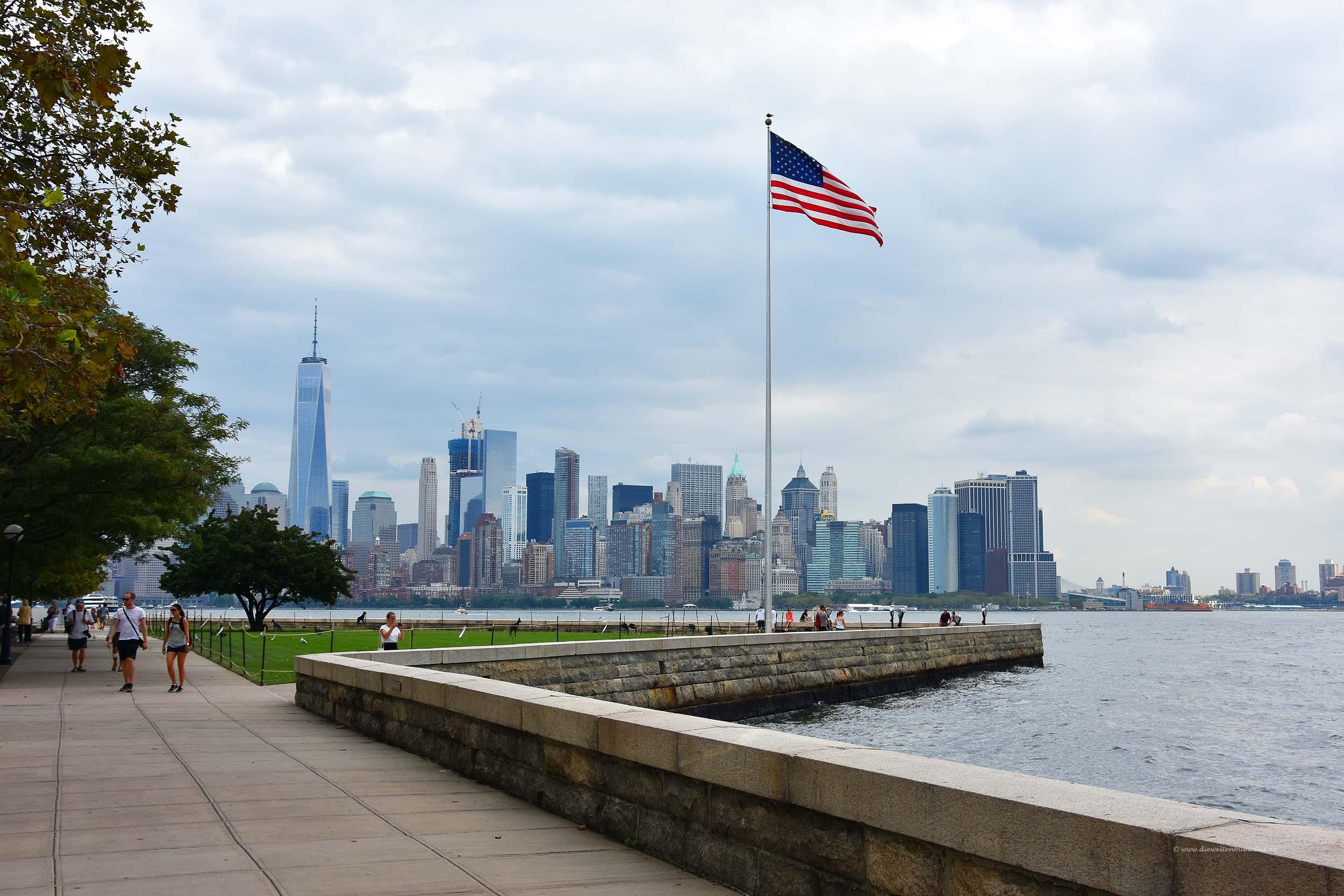 Manhattan von Ellis Island aus gesehen