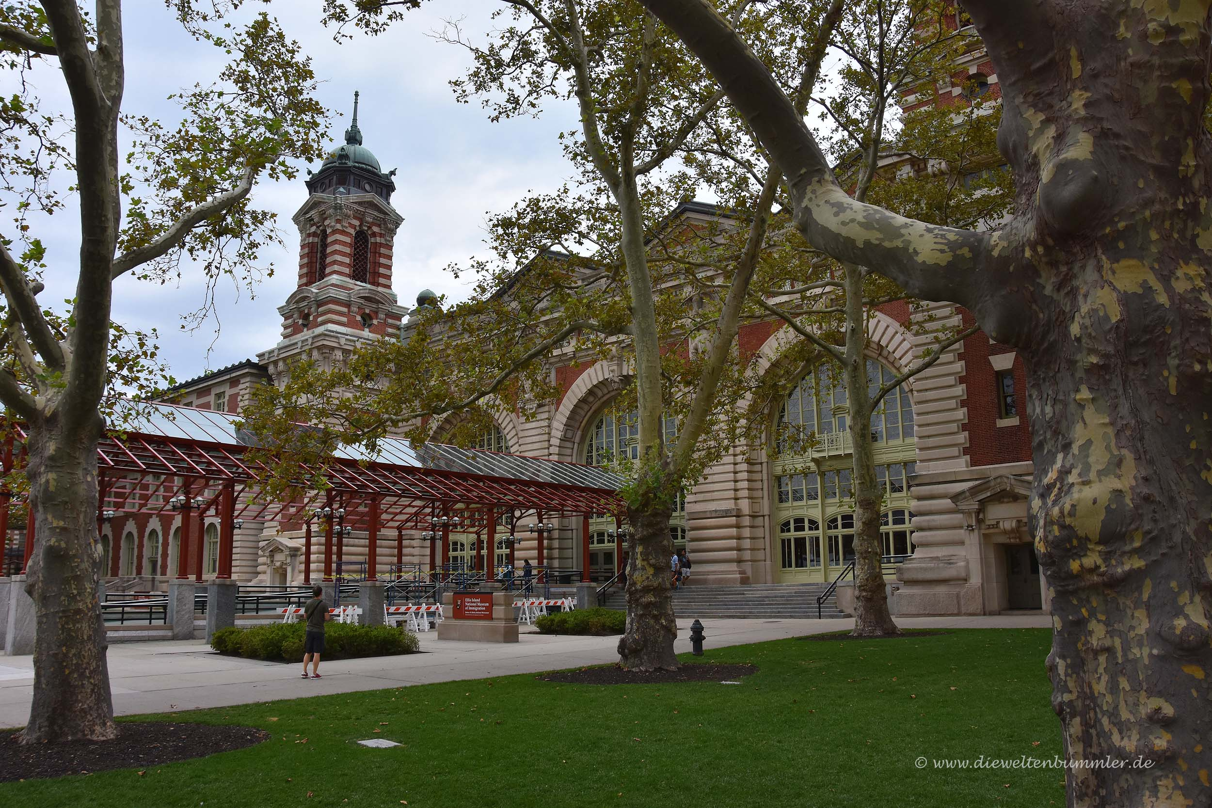 Museumsgebäude auf Ellis Island