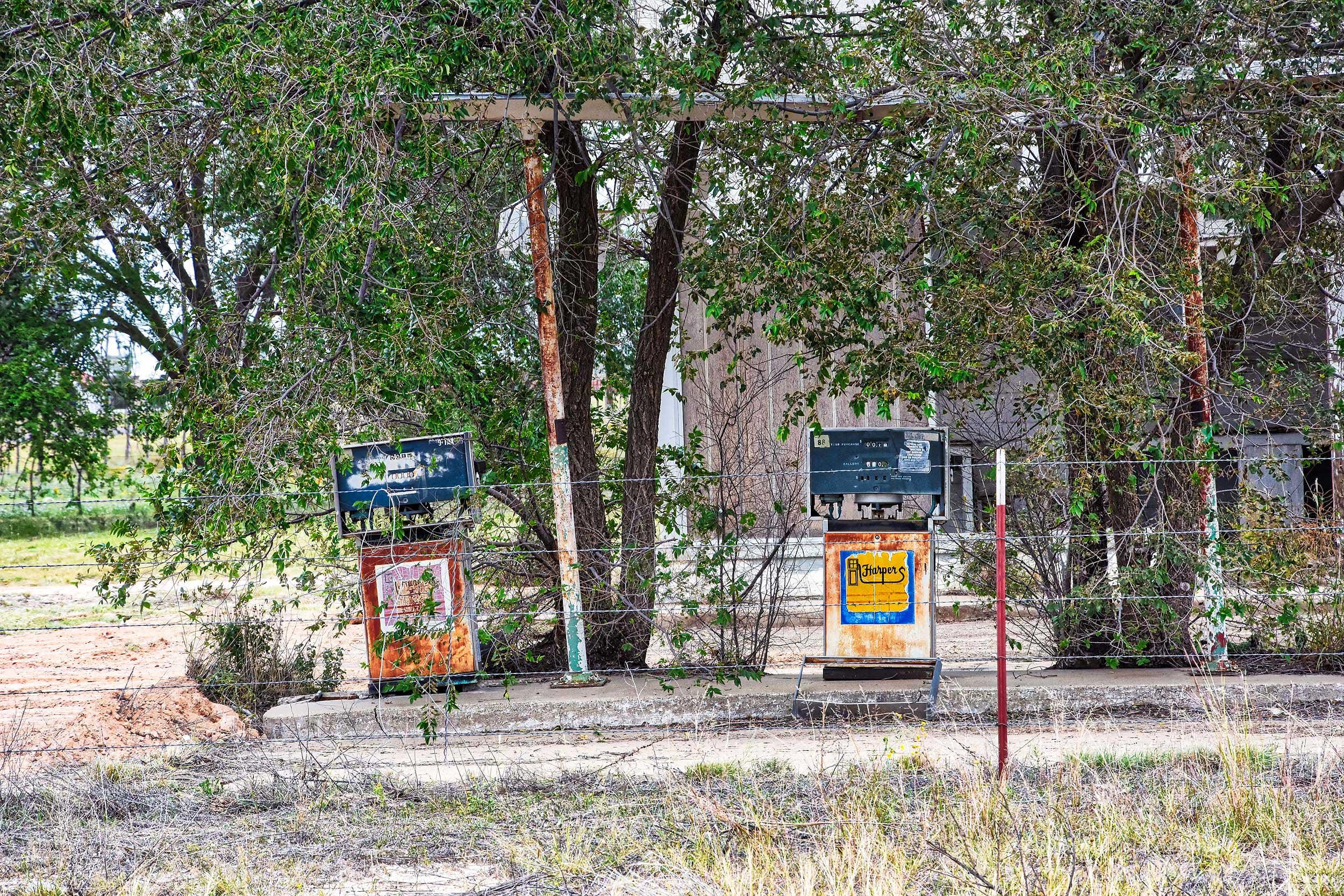 Verlassene Tankstelle
