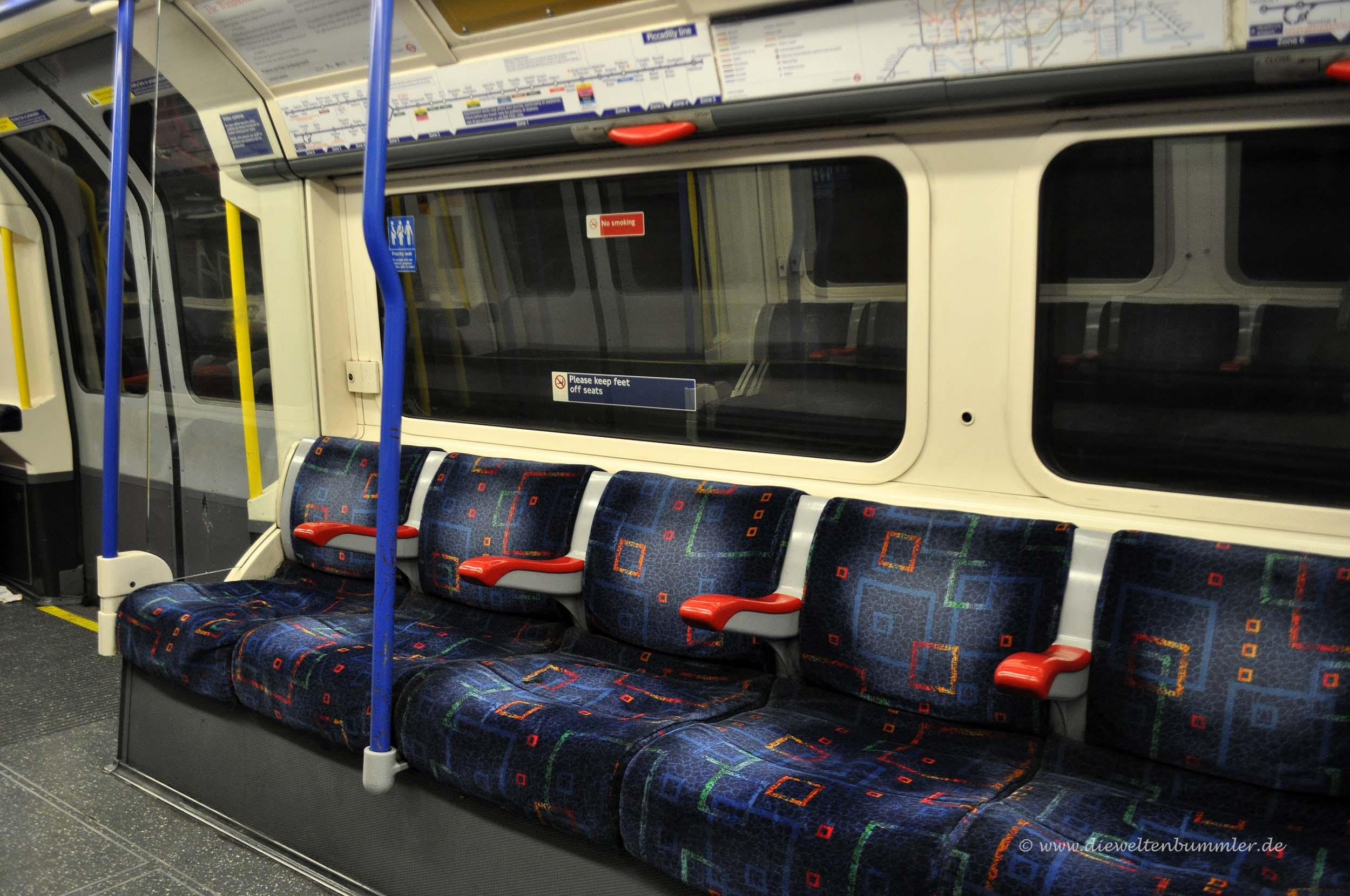 Londoner U-Bahn-Waggon