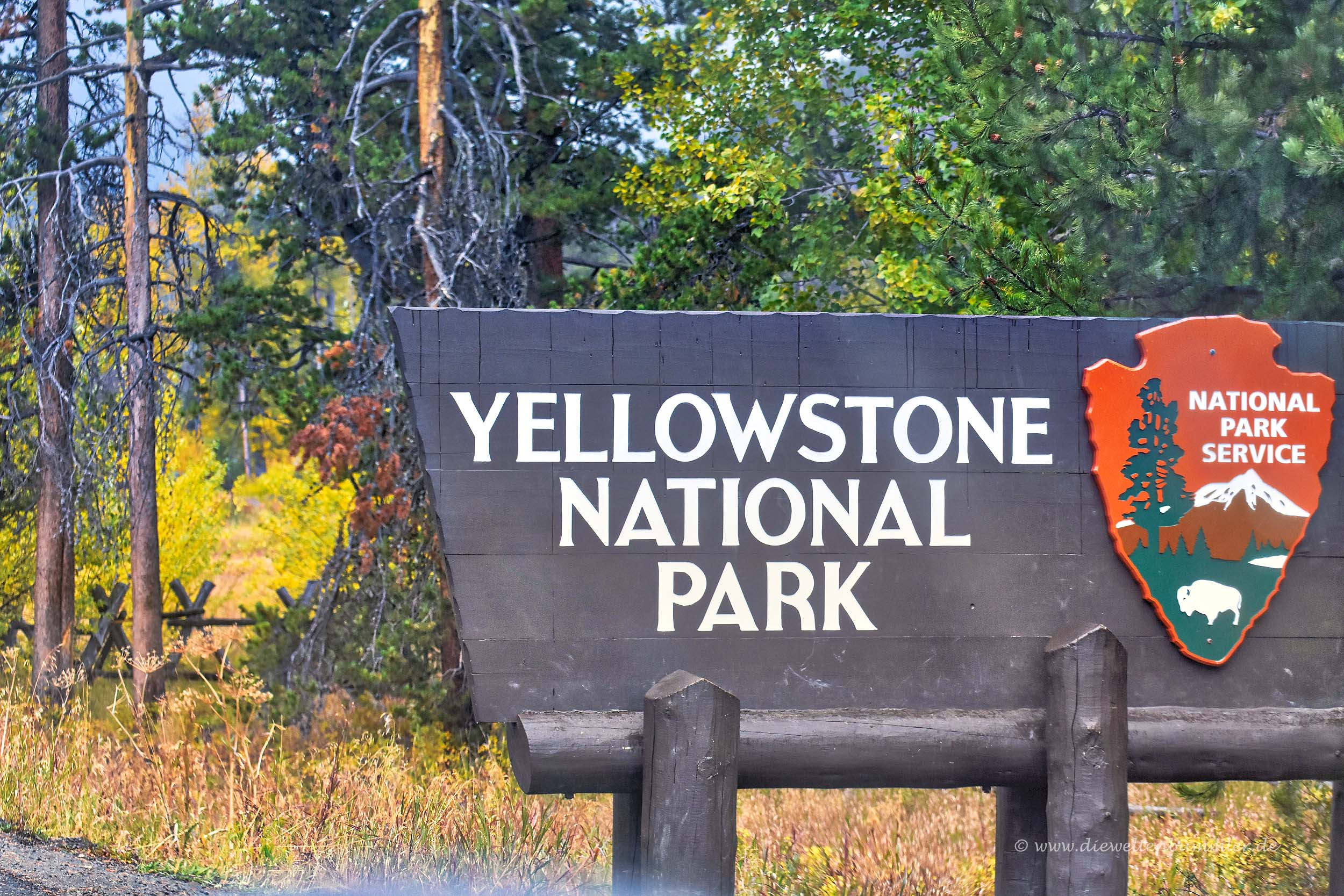Zugang zum Yellowstone