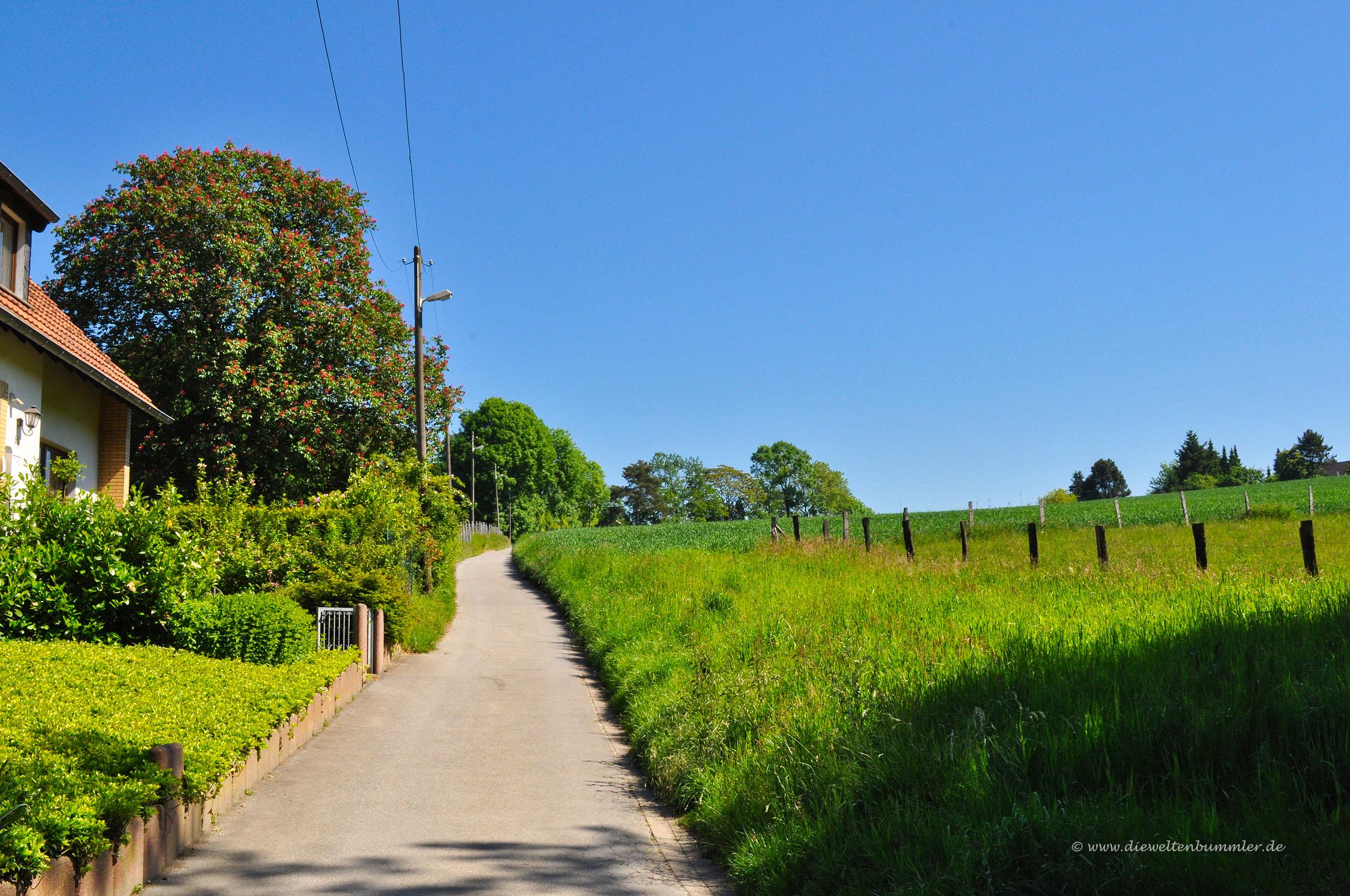 Auf dem Weg zwischen Essen und Mülheim