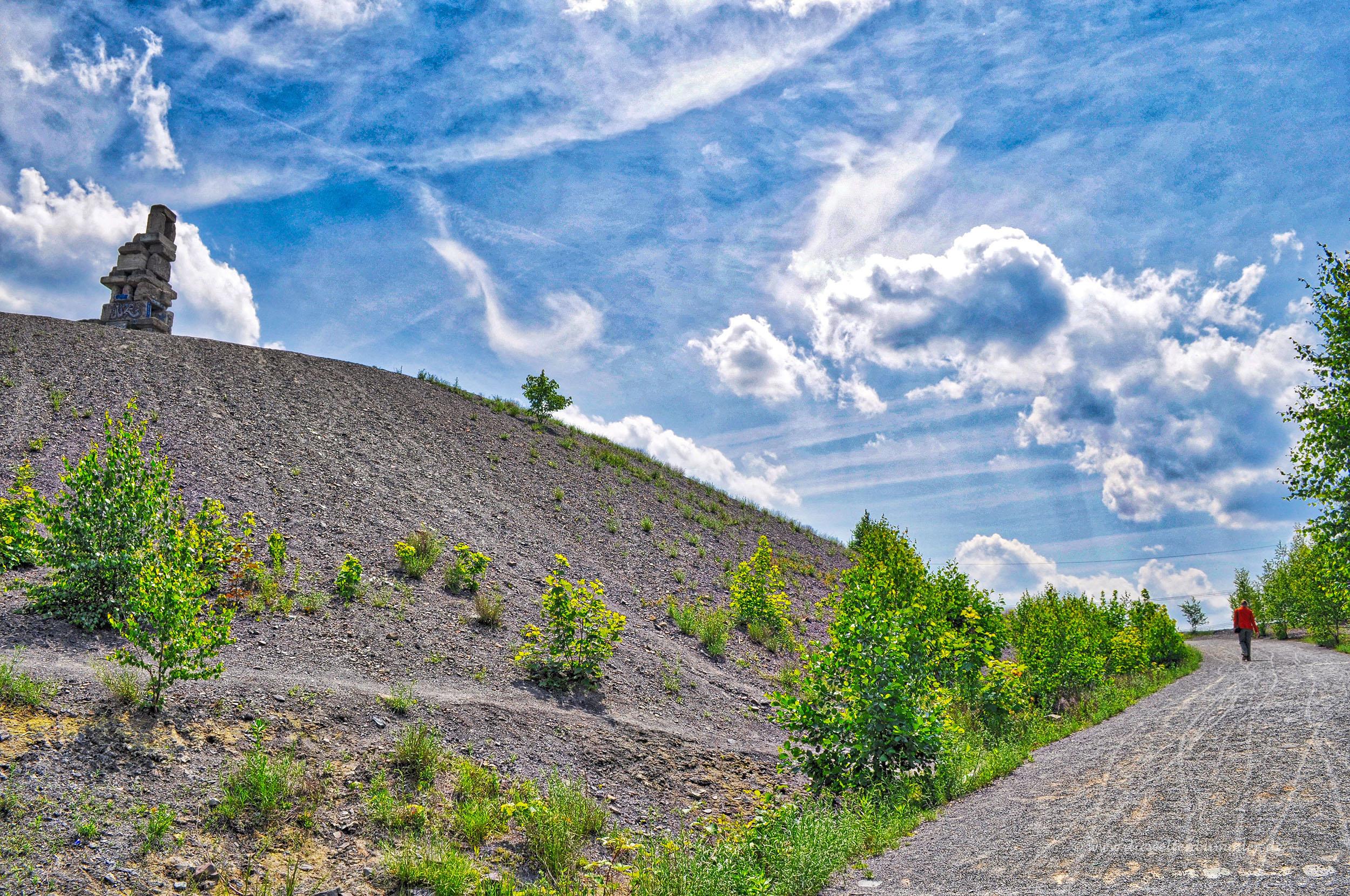 Aufstieg zur Halde Rheinelbe