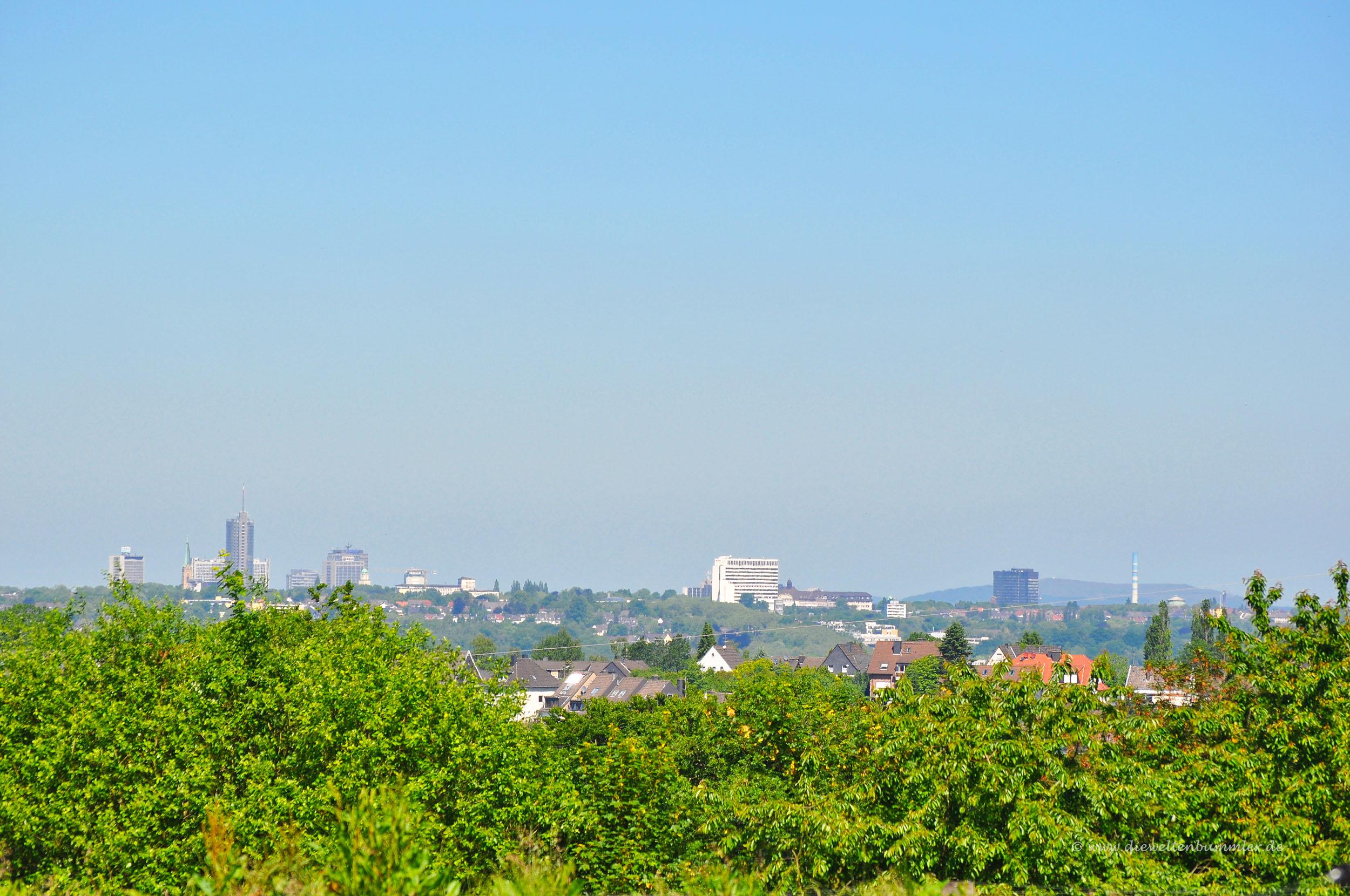 Ausblick auf die Essener Skyline
