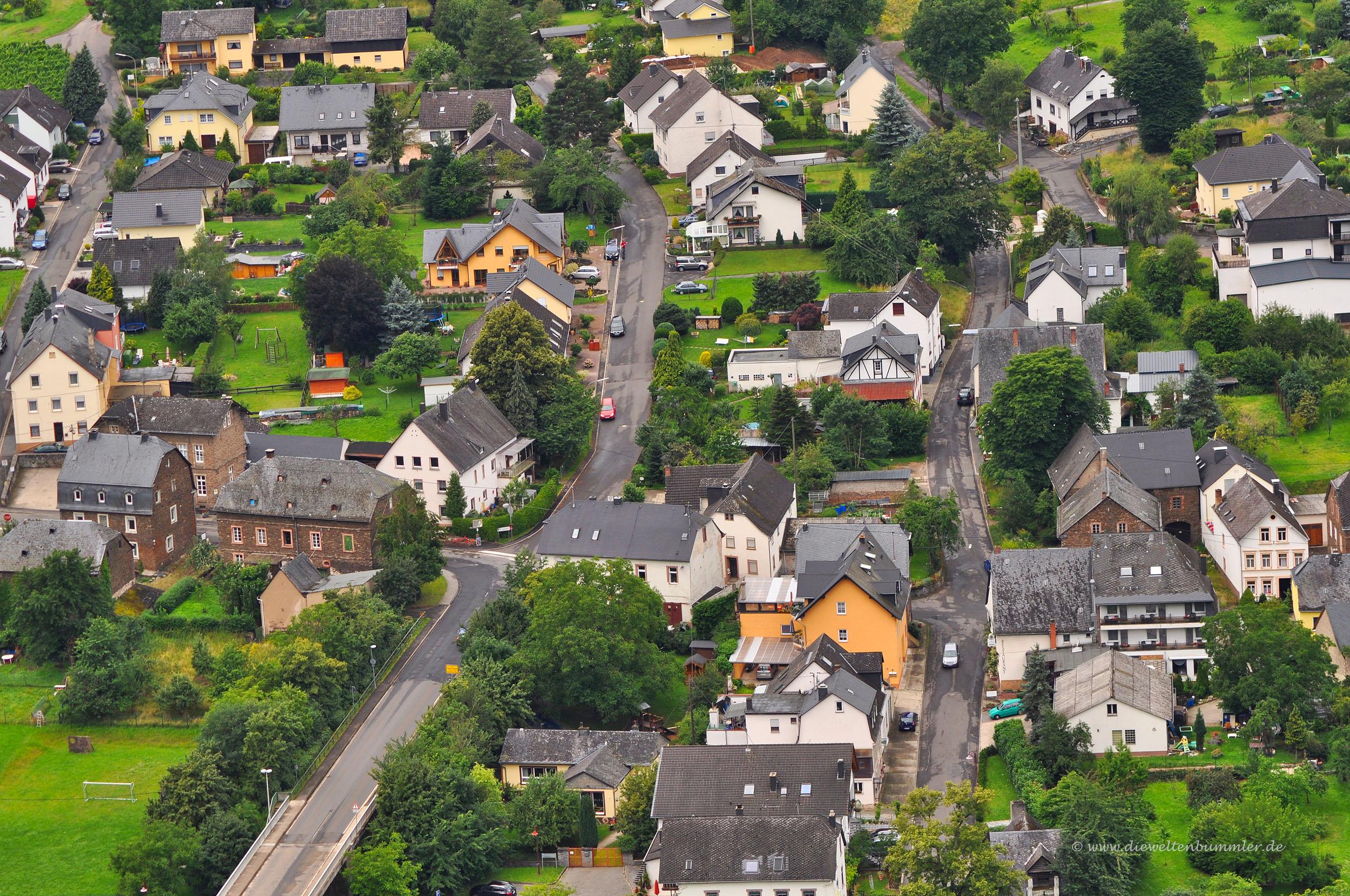Blick auf die Ortschaft Wolf