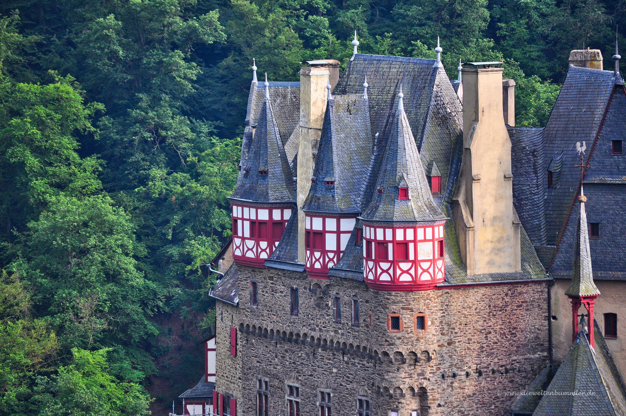 Fachwerktürme der Burg Eltz