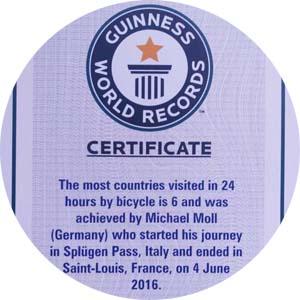 Eintrag in das Guinnessbuch der Rekorde