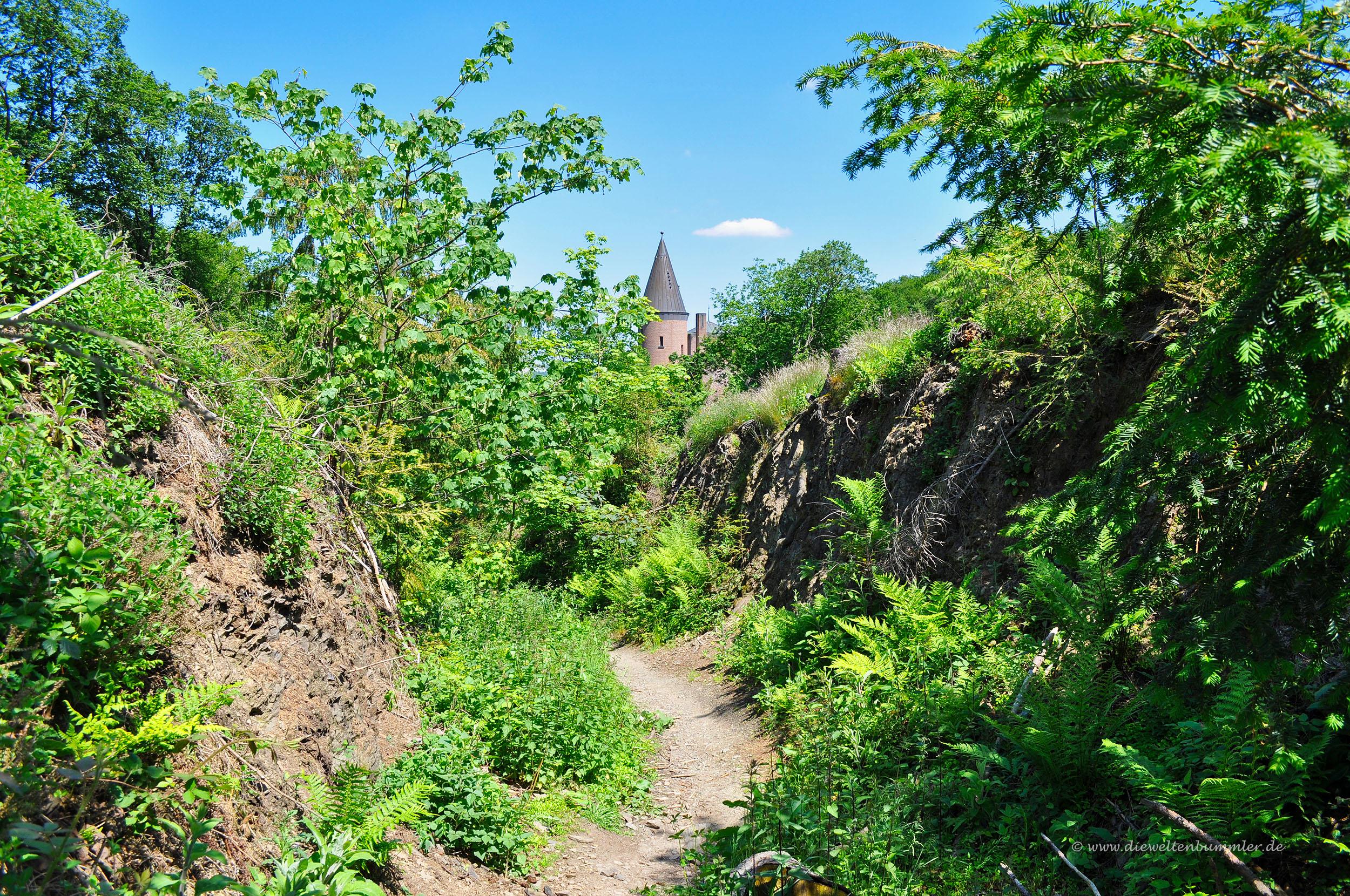 Hohlweg am Schloss Landsberg