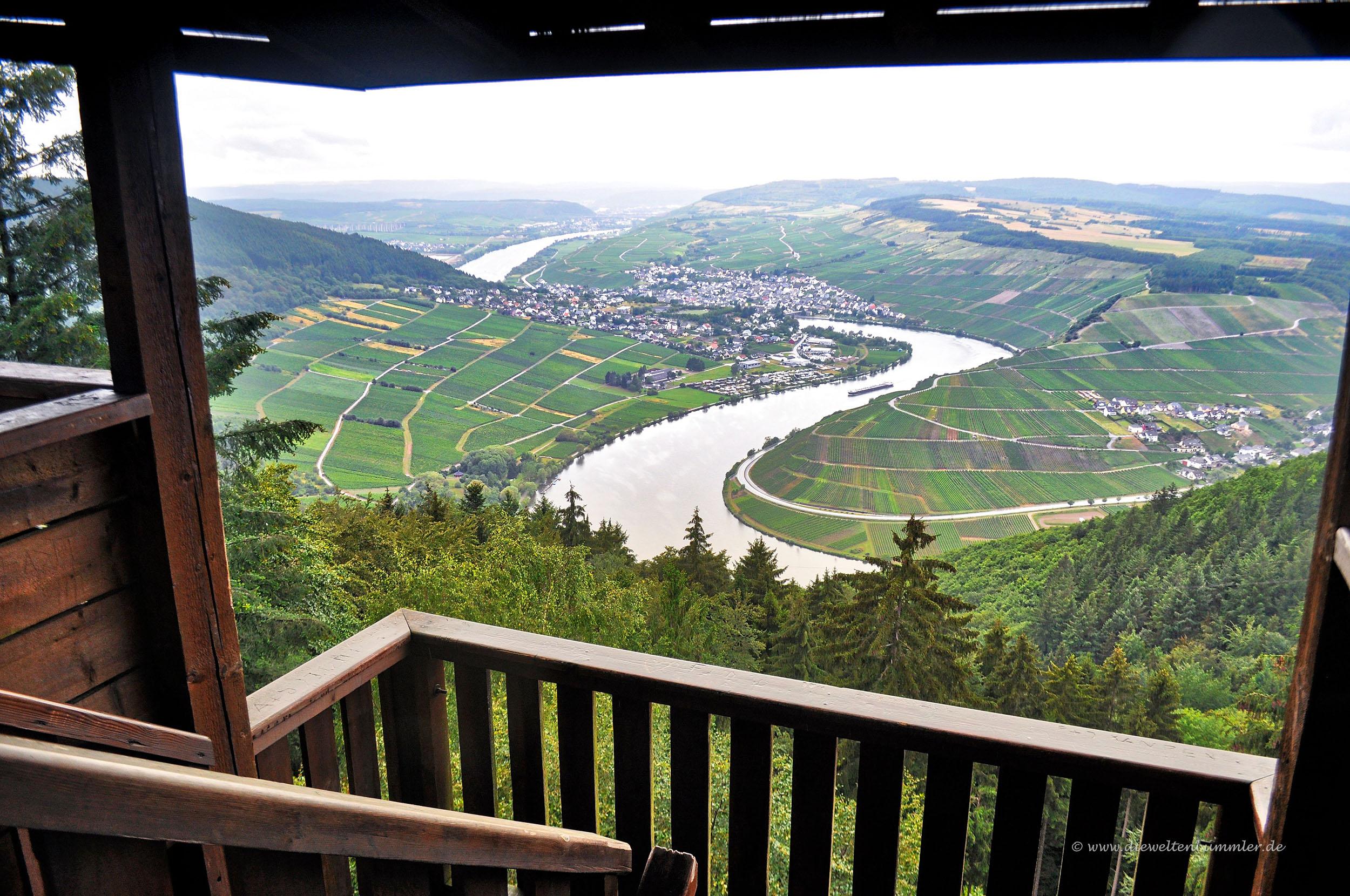 Ausblick vom Turm Fünfseenblick