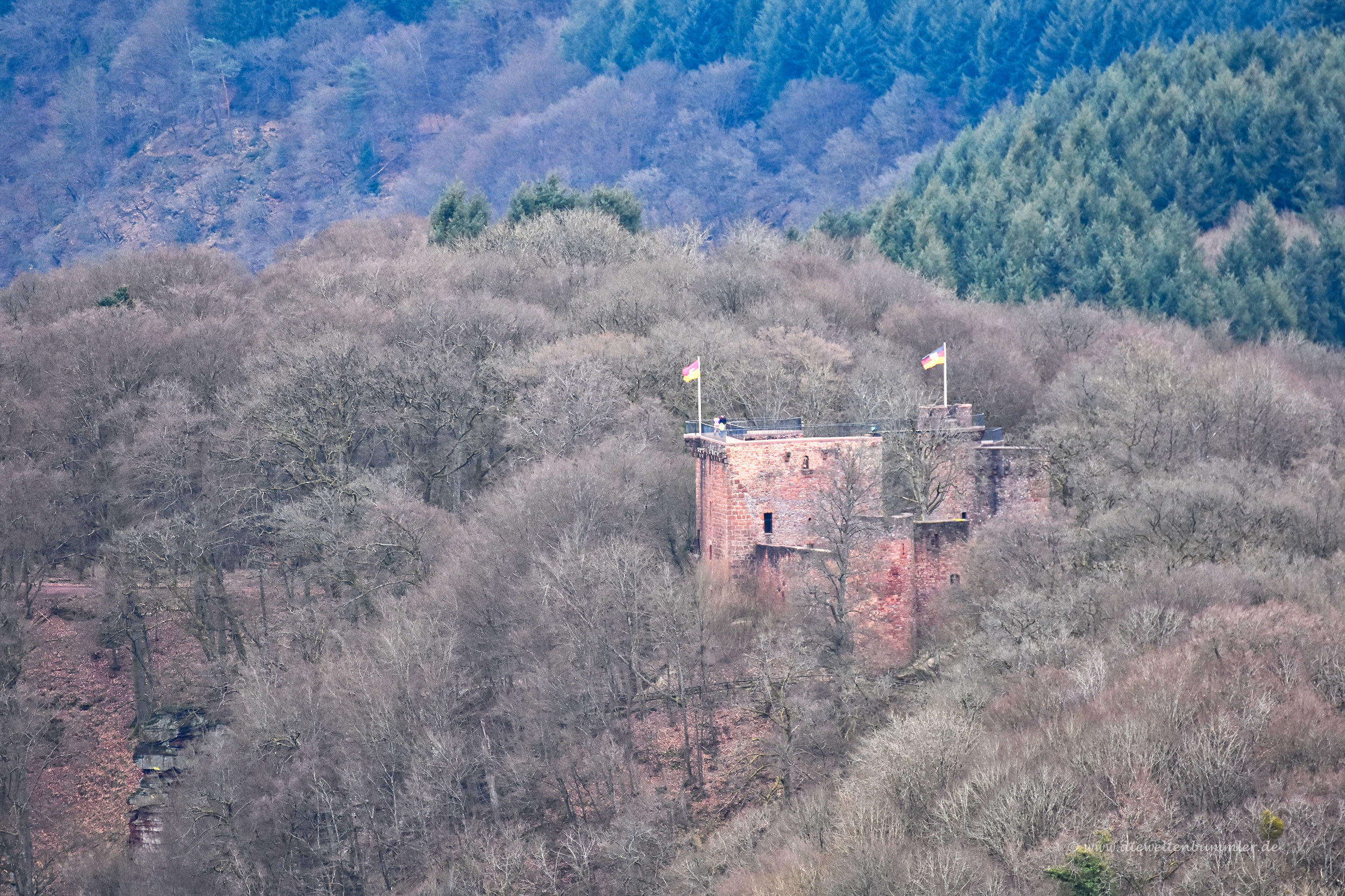 Die Burg Montclair sieht man gut