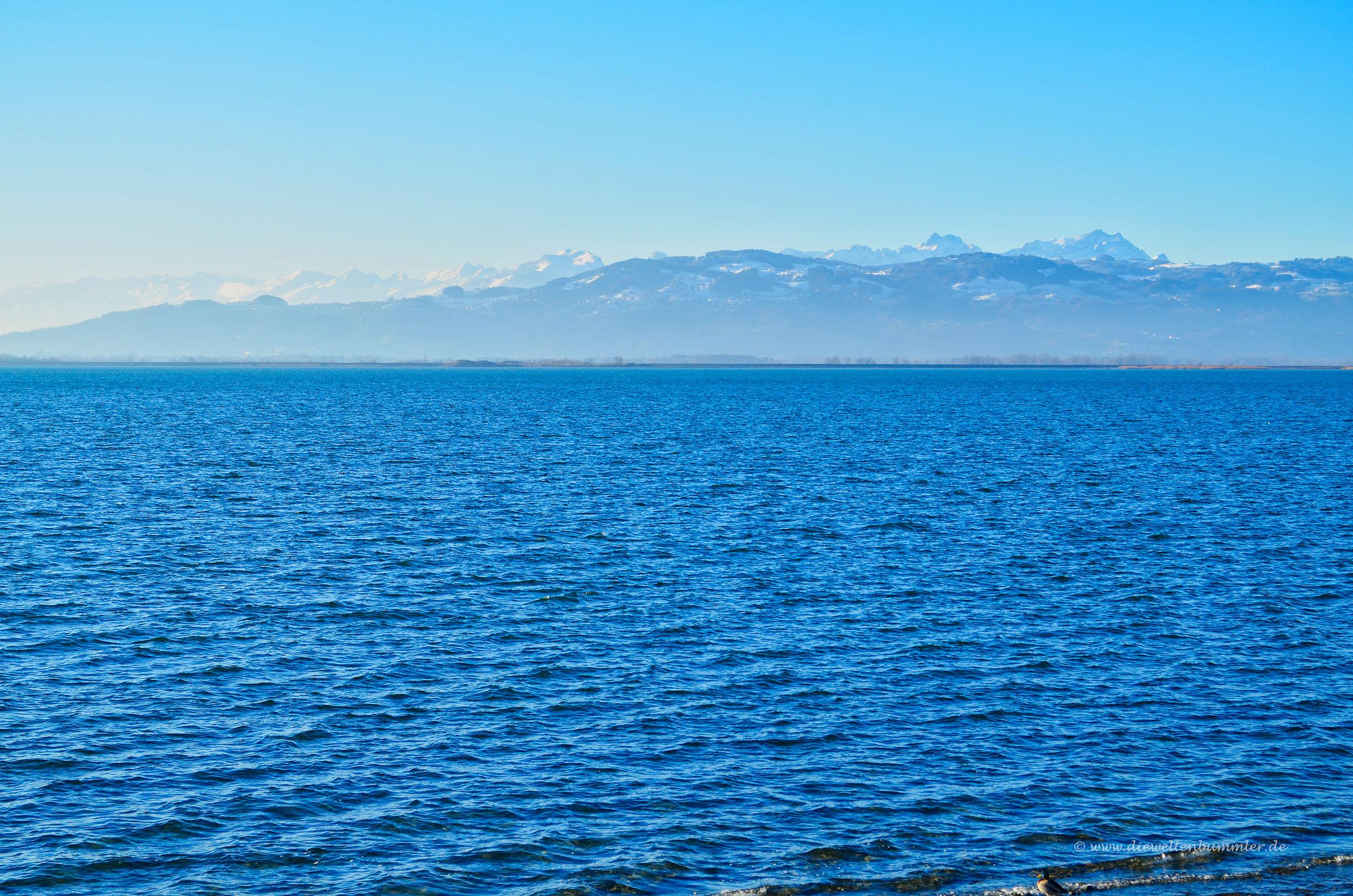 Die Schweizer Berge im Süden