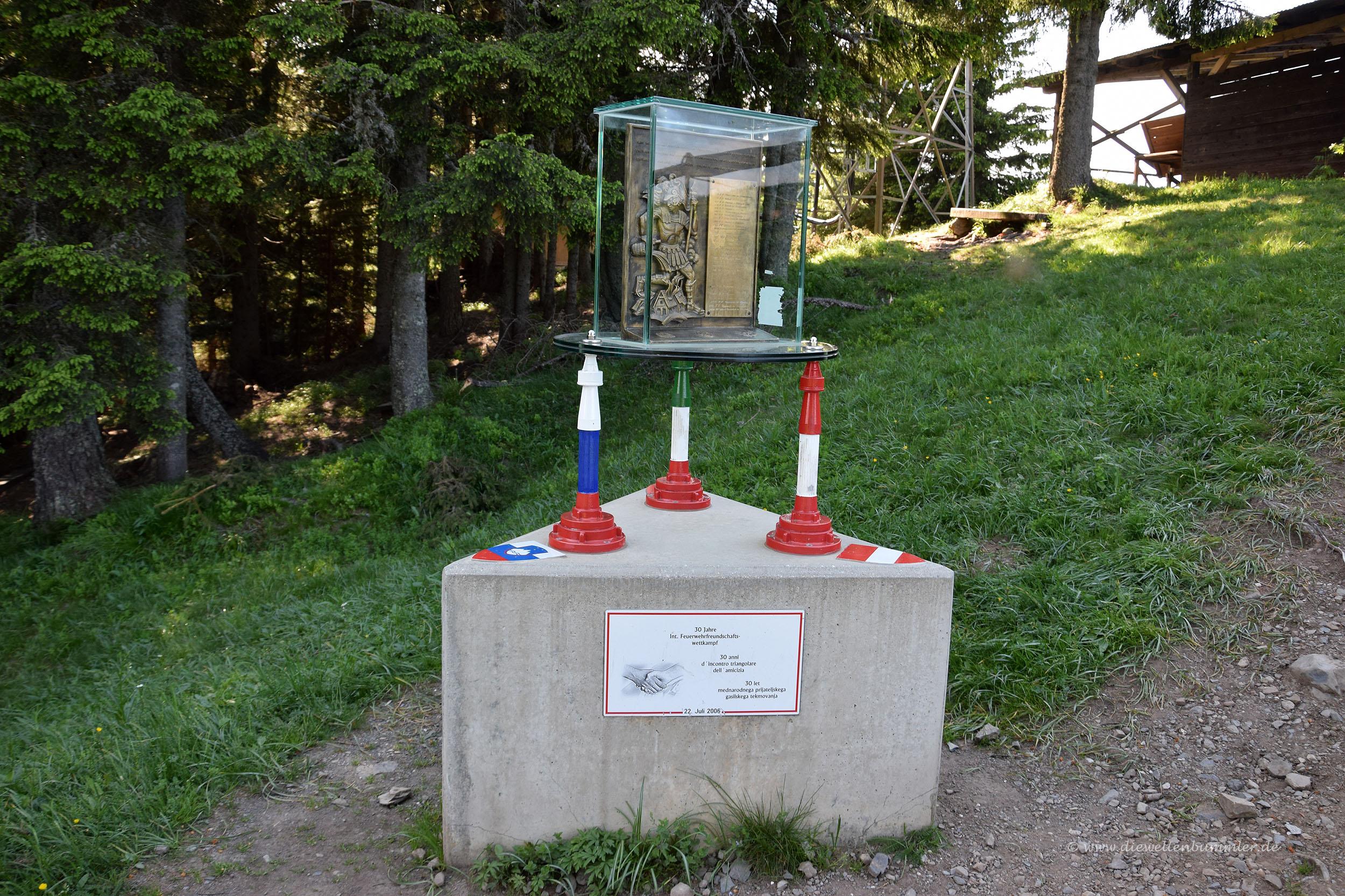 Dreiländereck von Slowenien Österreich und Italien