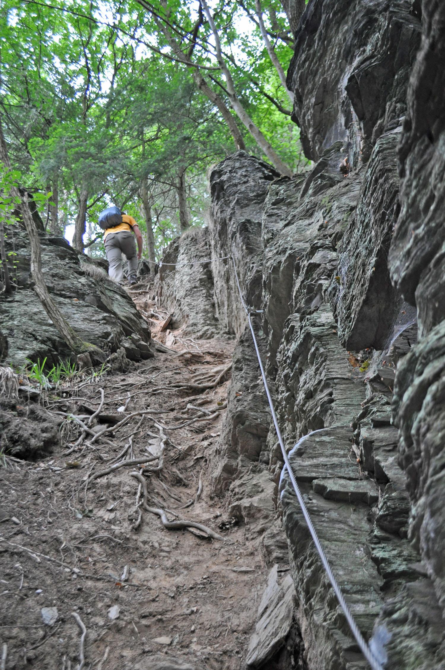 Wandern im Rioler Klettersteig