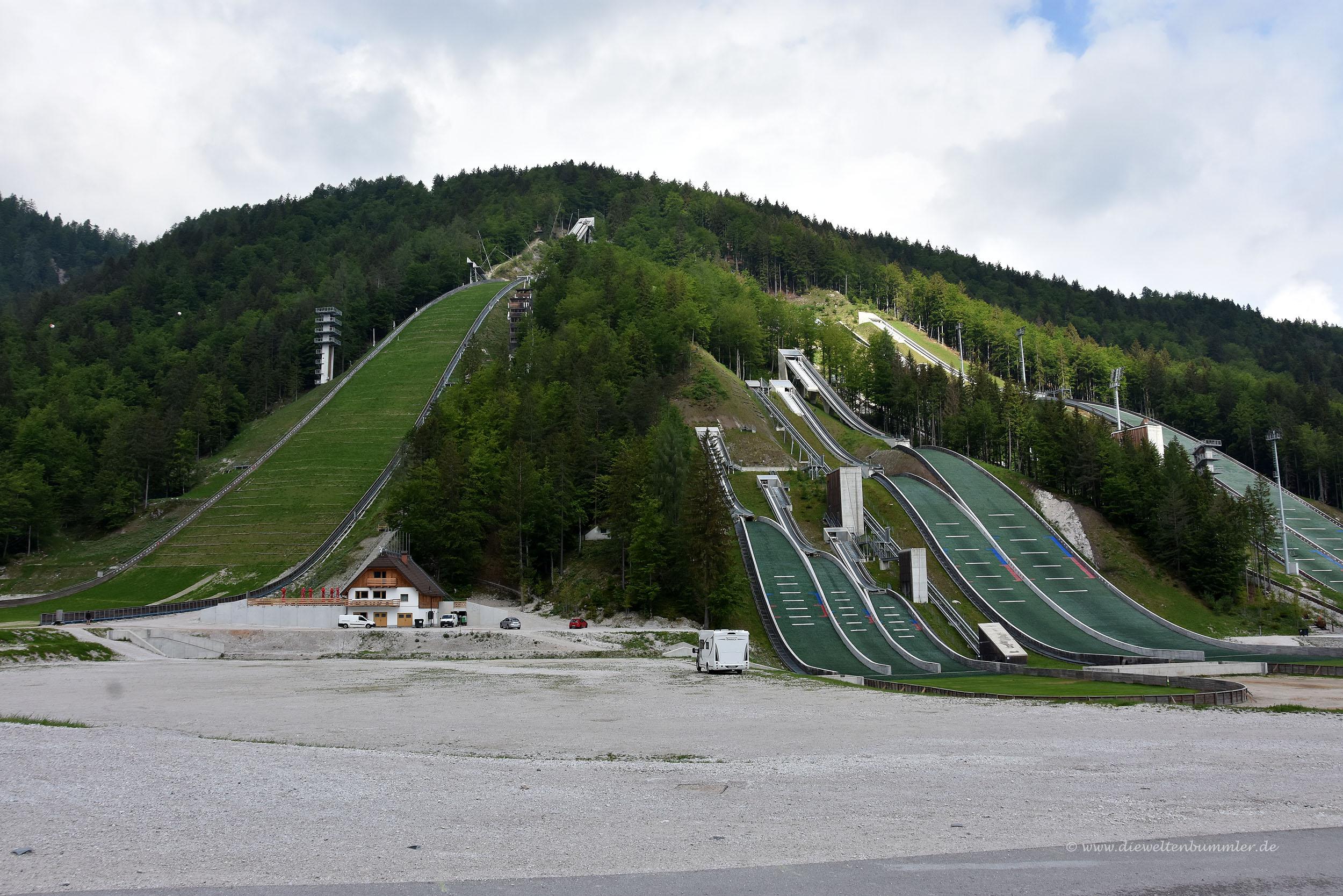 Skischanzen bei Planica