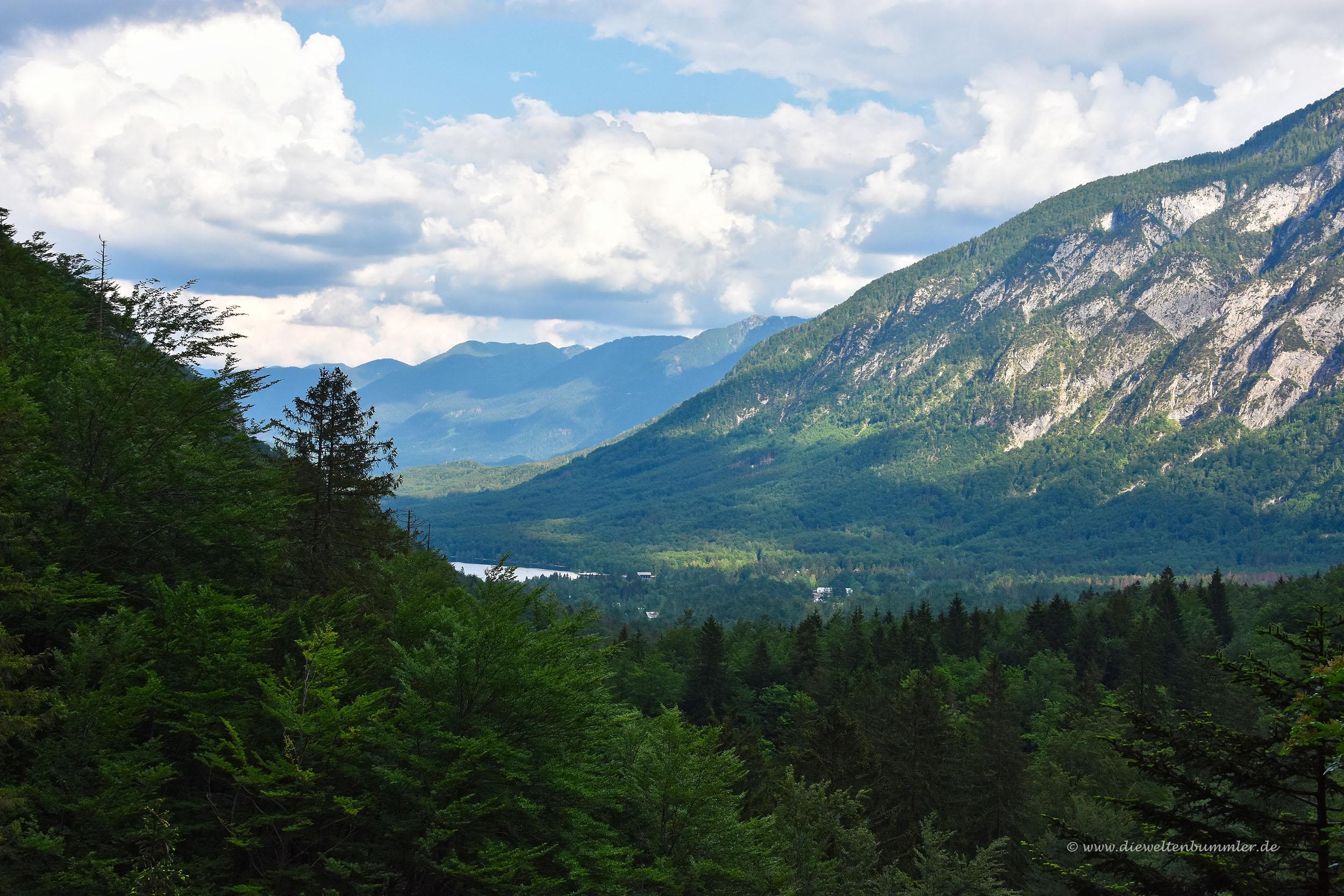 Ausblick in das Tal bei Bohinjska Bistrica