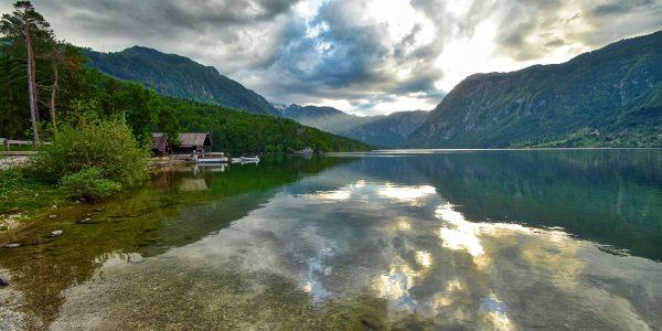 Der See Bohinjska Jezero
