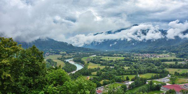 Das Isonzo-Tal bei Kobarid