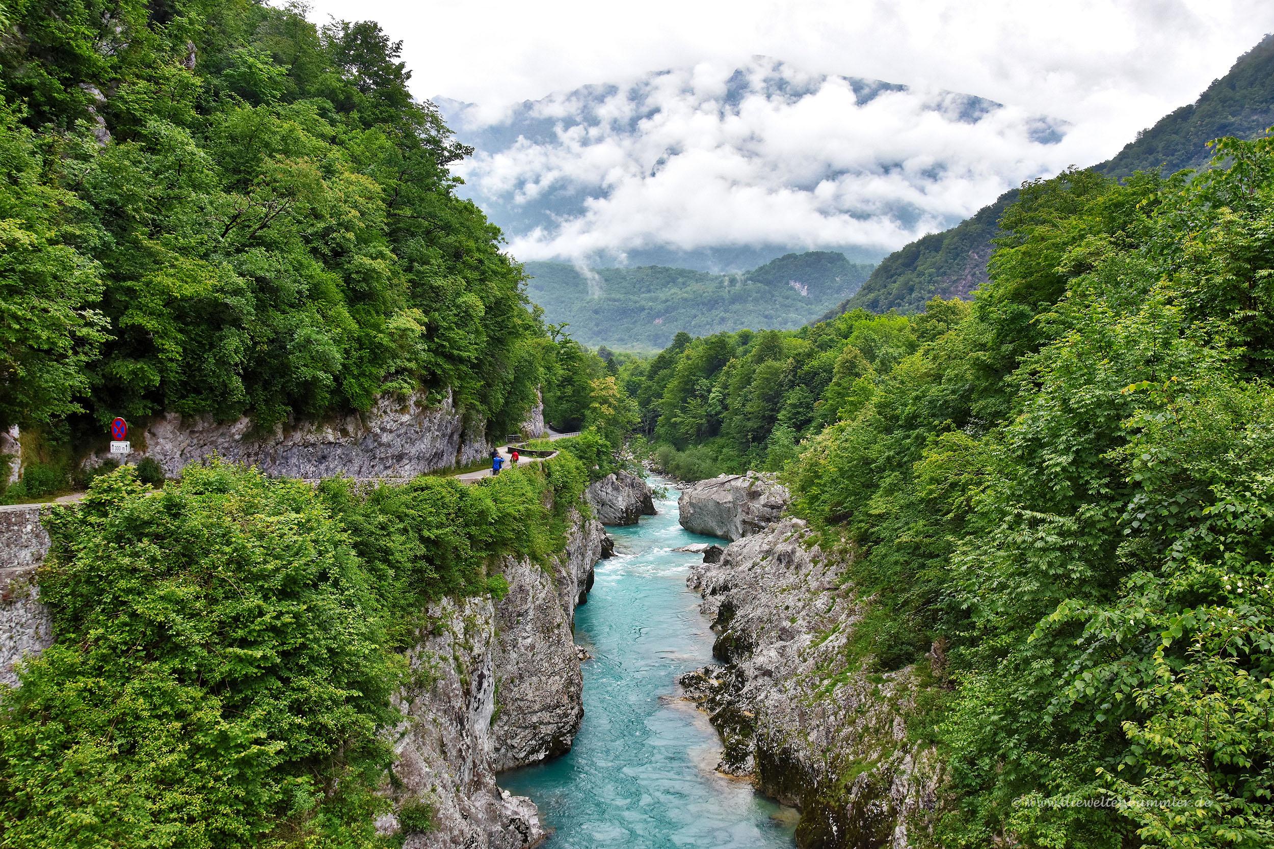 Der Isonzo bildet eine schöne Schlucht