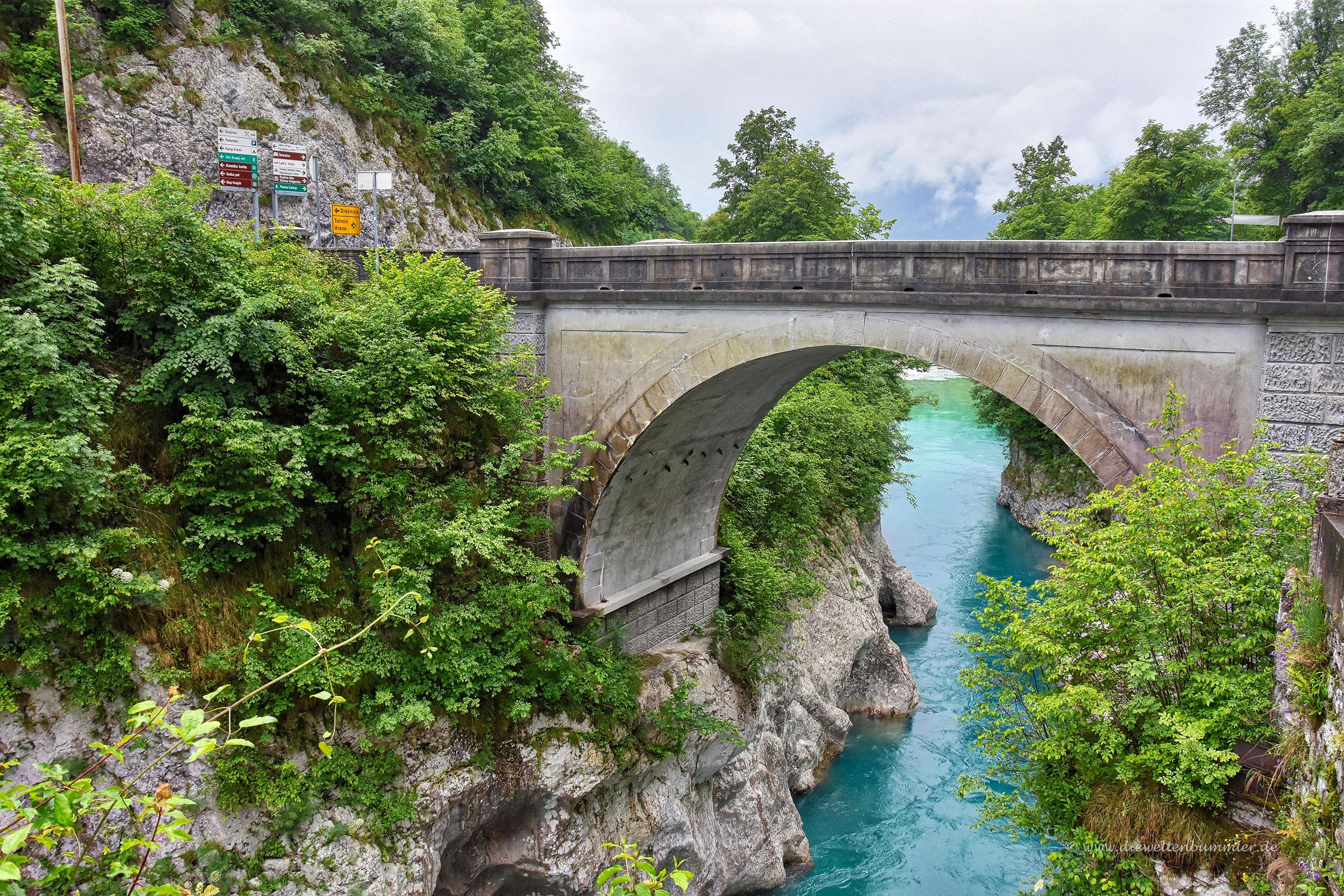 Napoleonsbrücke über dem Isonzo