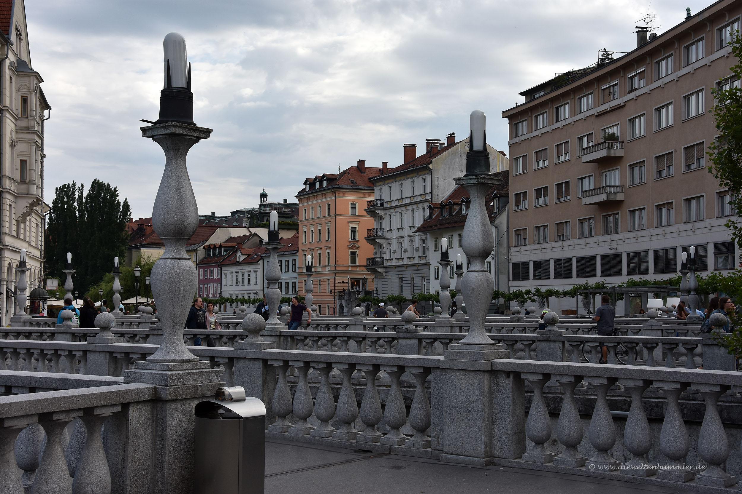 Drei Brücken als Wahrzeichen von Ljubljana