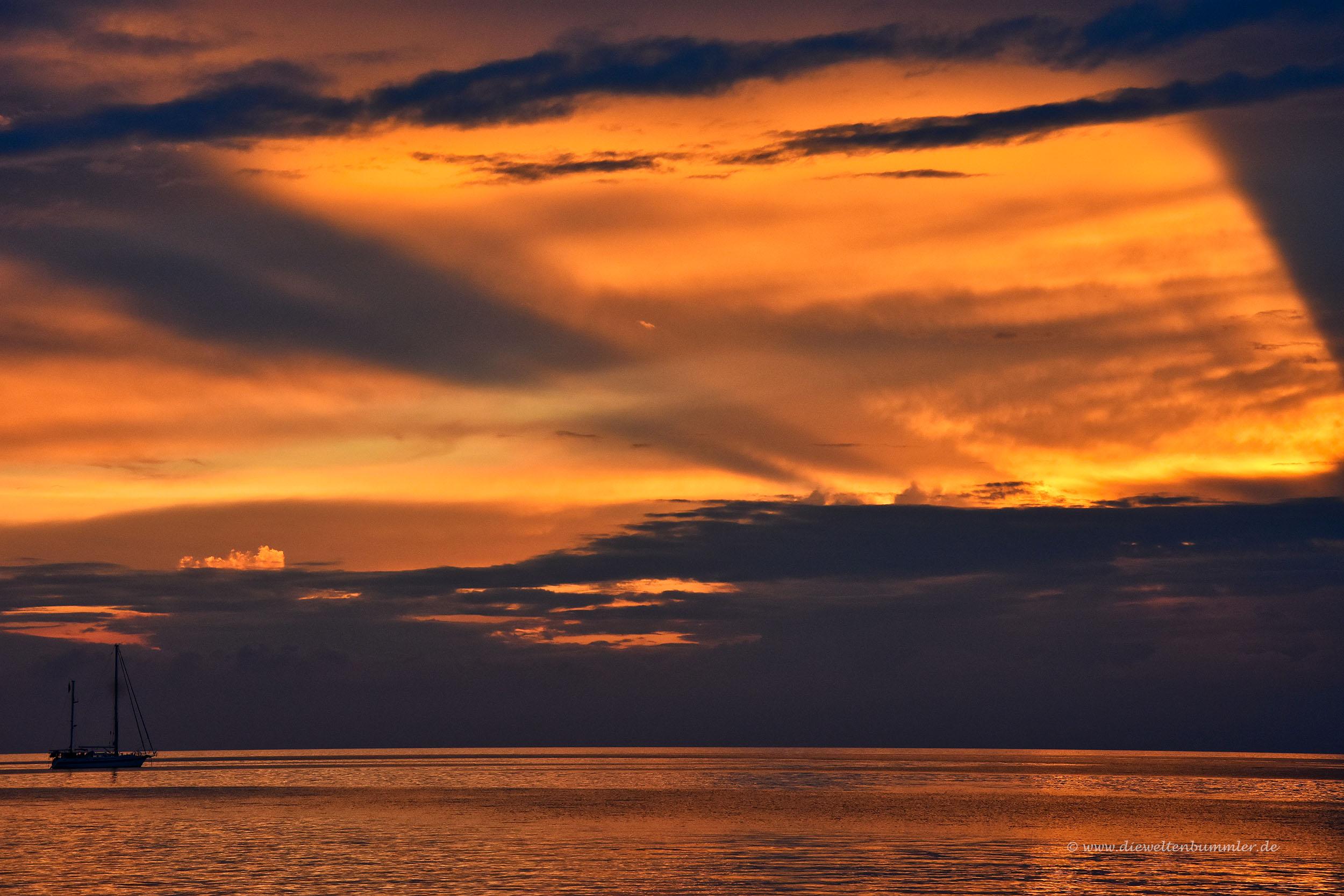 Sonnenuntergang bei Portorož