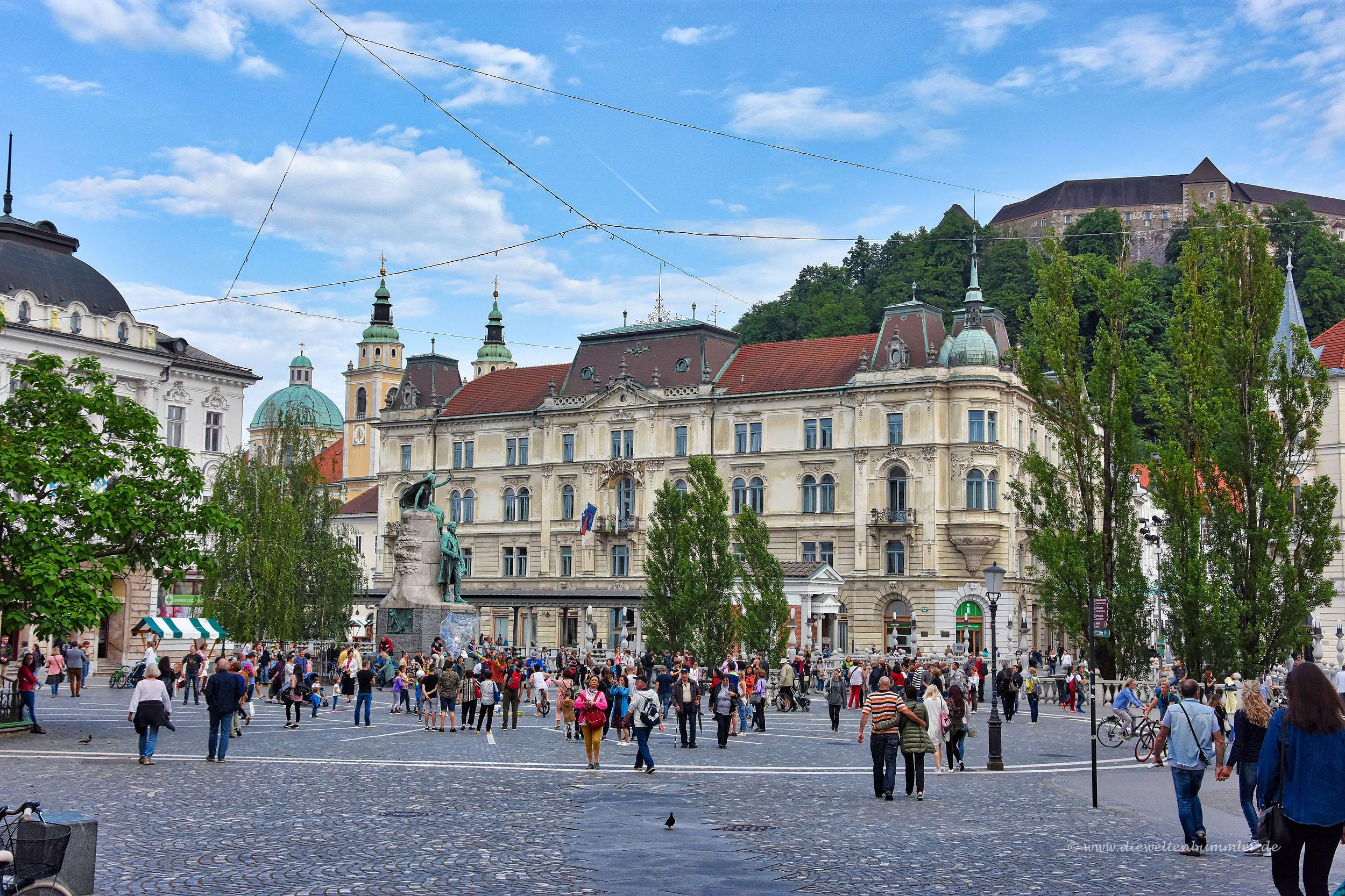 Hauptplatz in Ljubljana