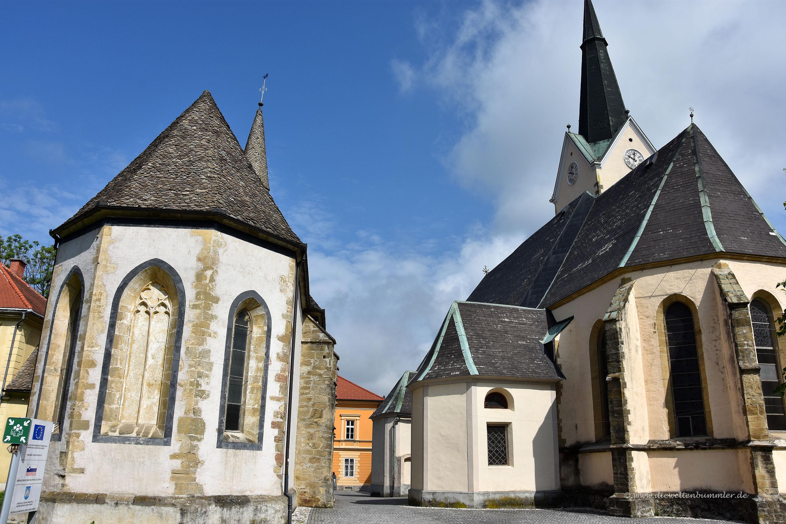 Zwei Kirchen in Slovenj Gradec