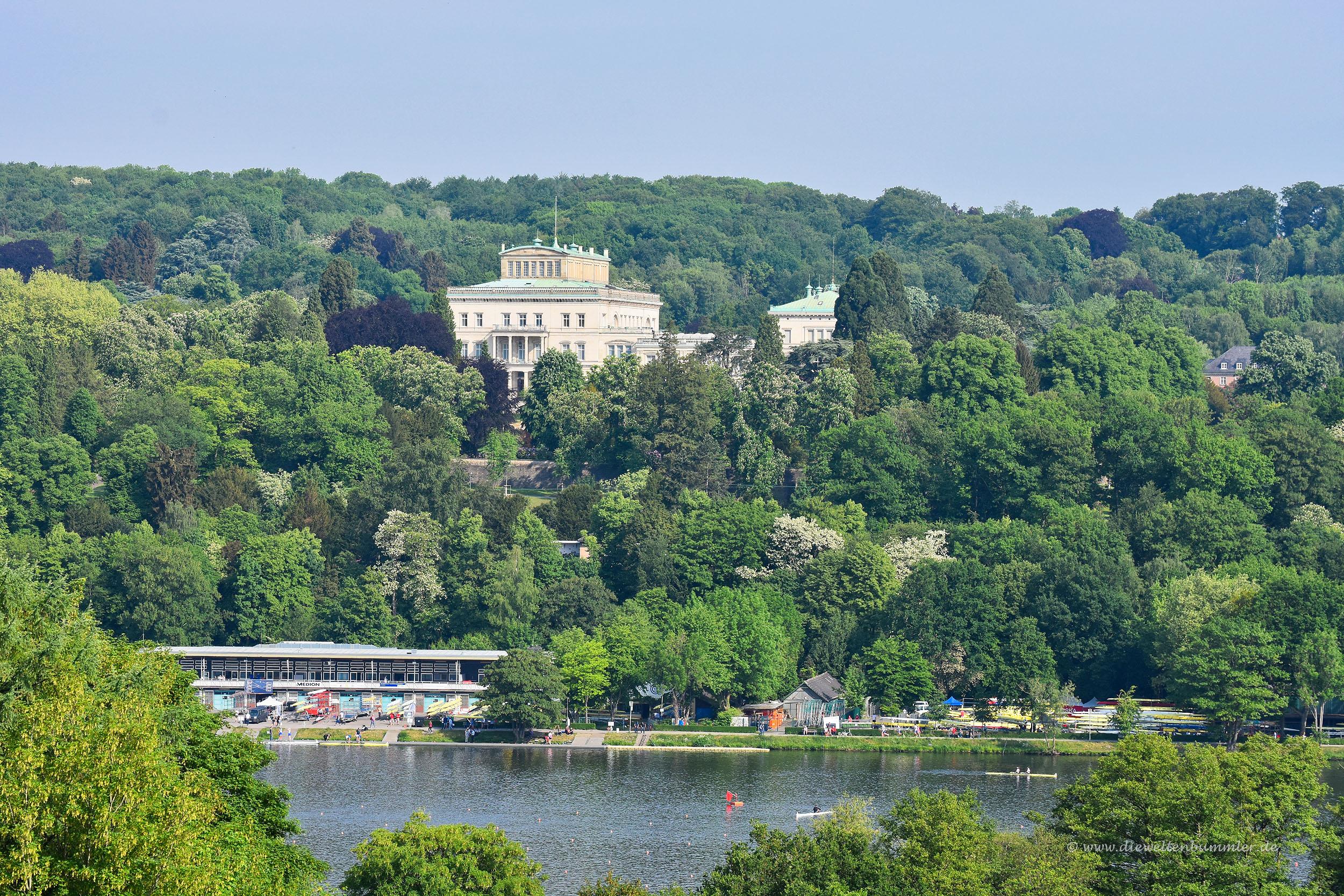 Die Villa Hügel über dem Baldeneysee