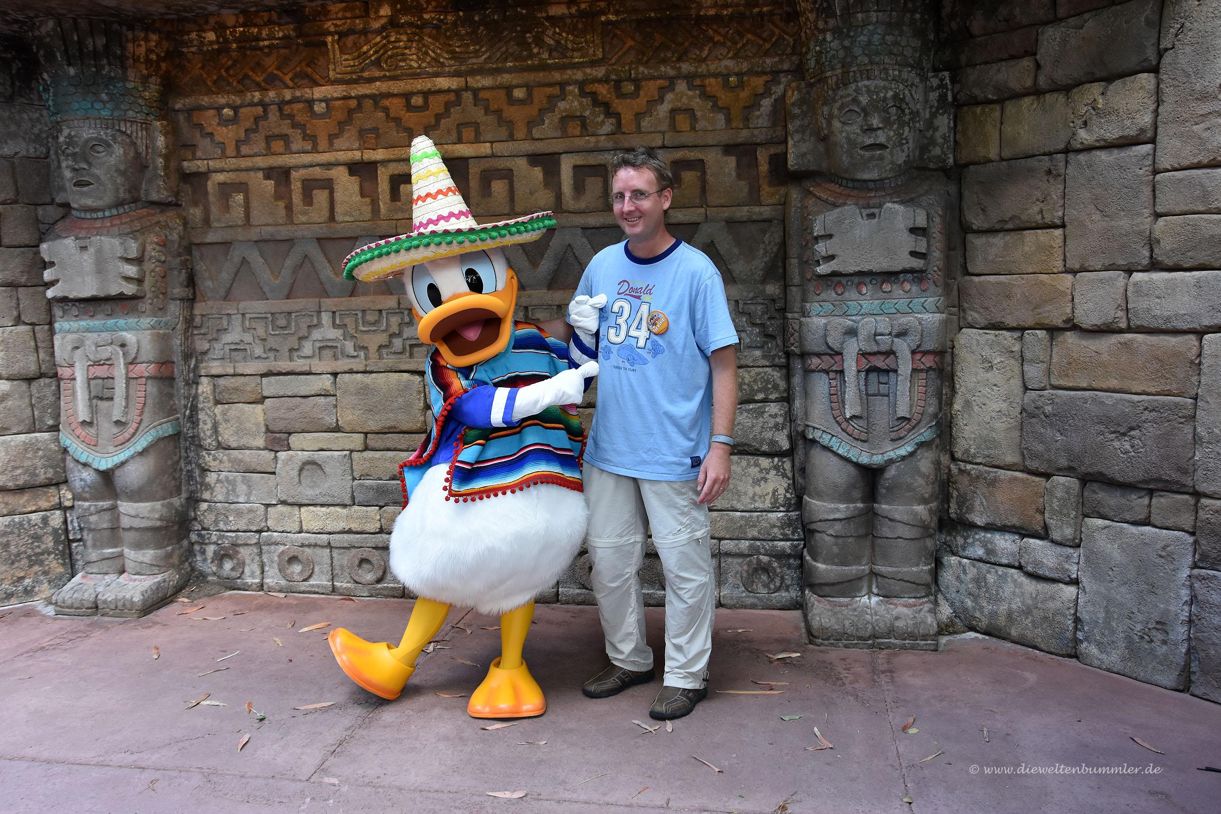 Treffen mit Donald Duck