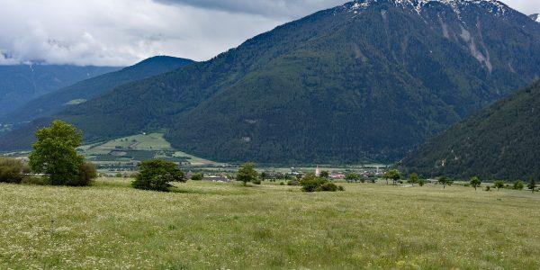 Ausblick vom Reschenpass ins Vinschgau