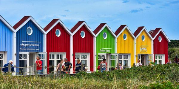 Bunte Häuser auf der Insel