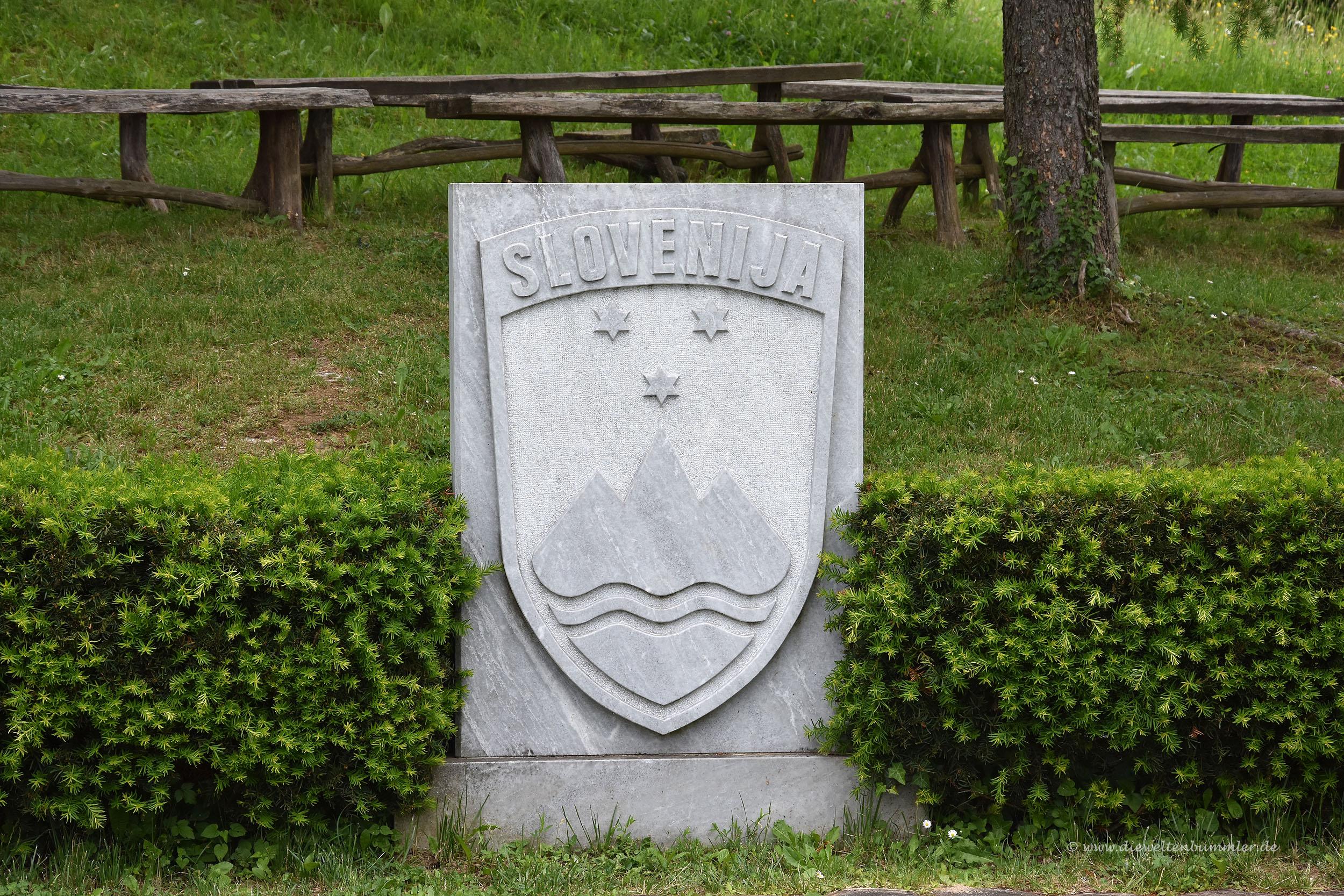 Das Wappen von Slowenien