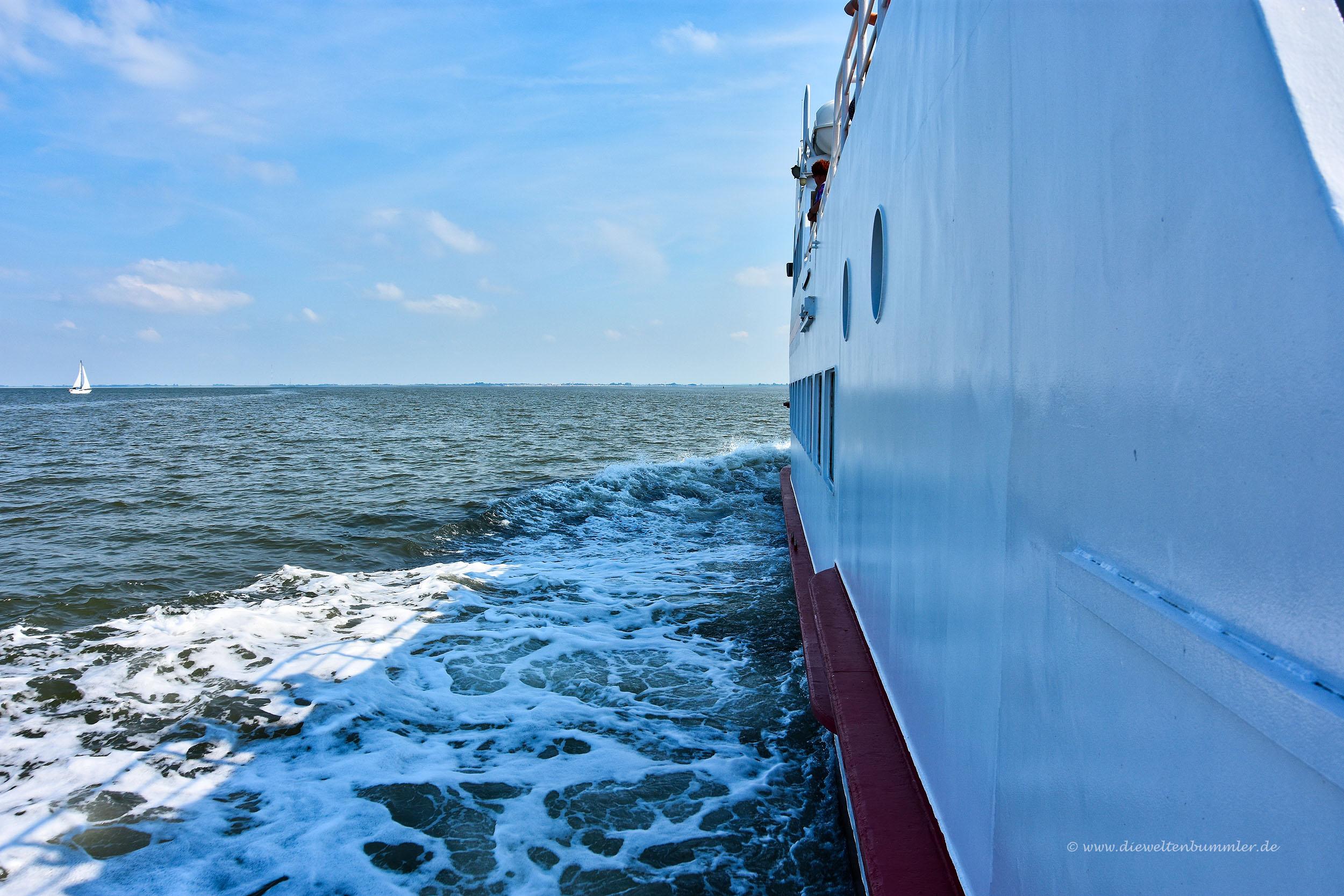 Fährüberfahrt in der Nordsee