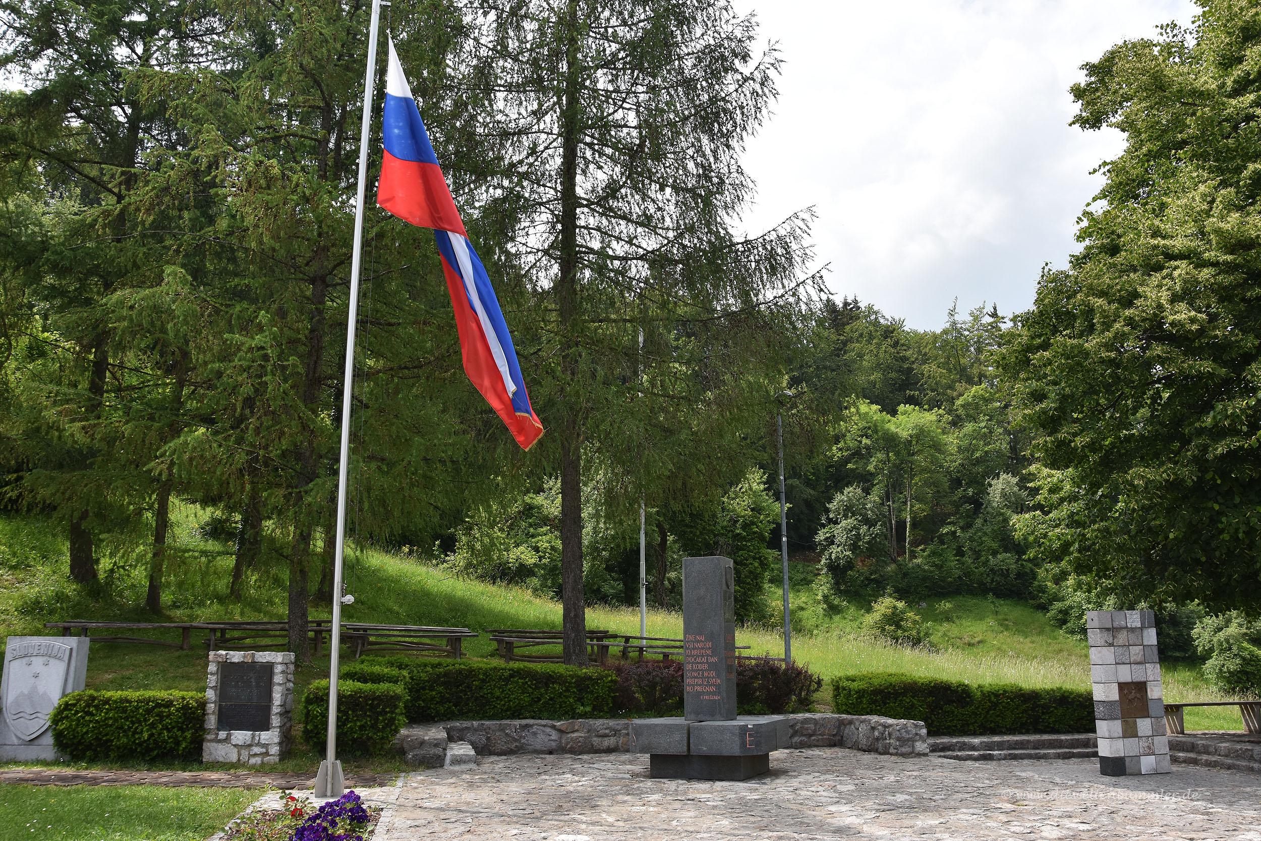 Geografischer Mittelpunkt von Slowenien