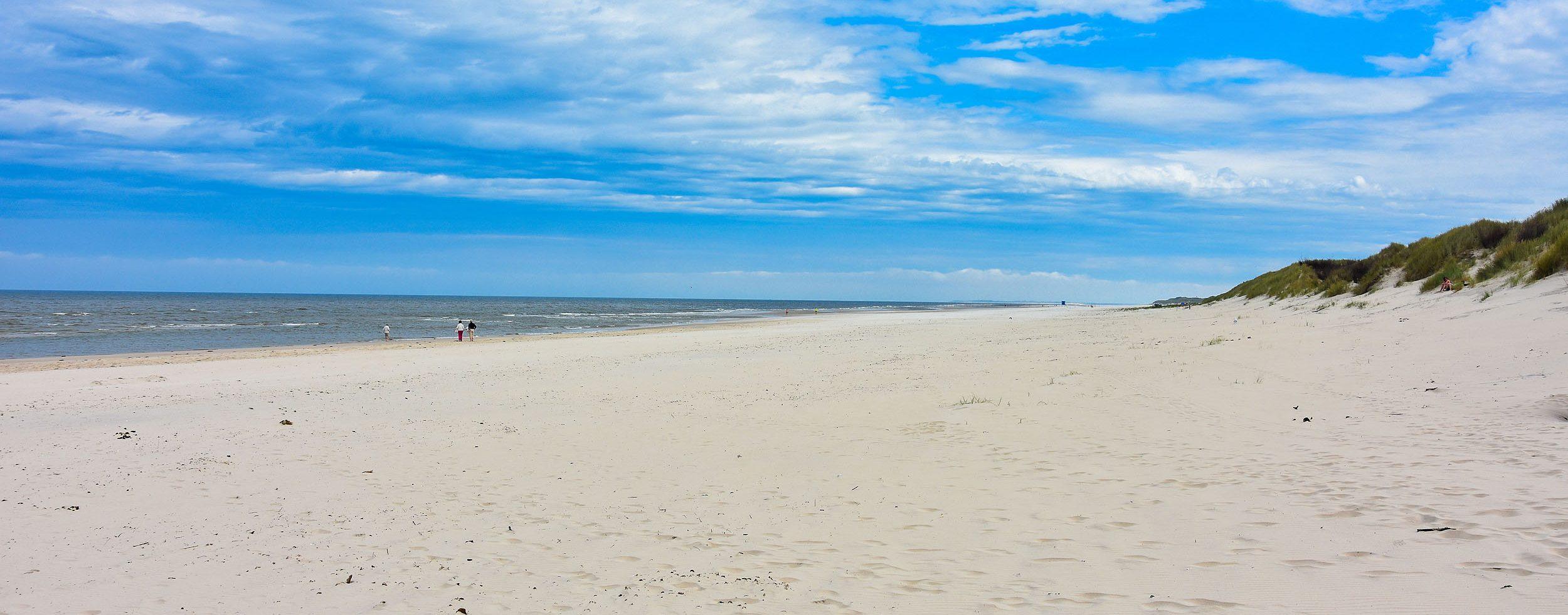Weiter Strand auf Langeoog