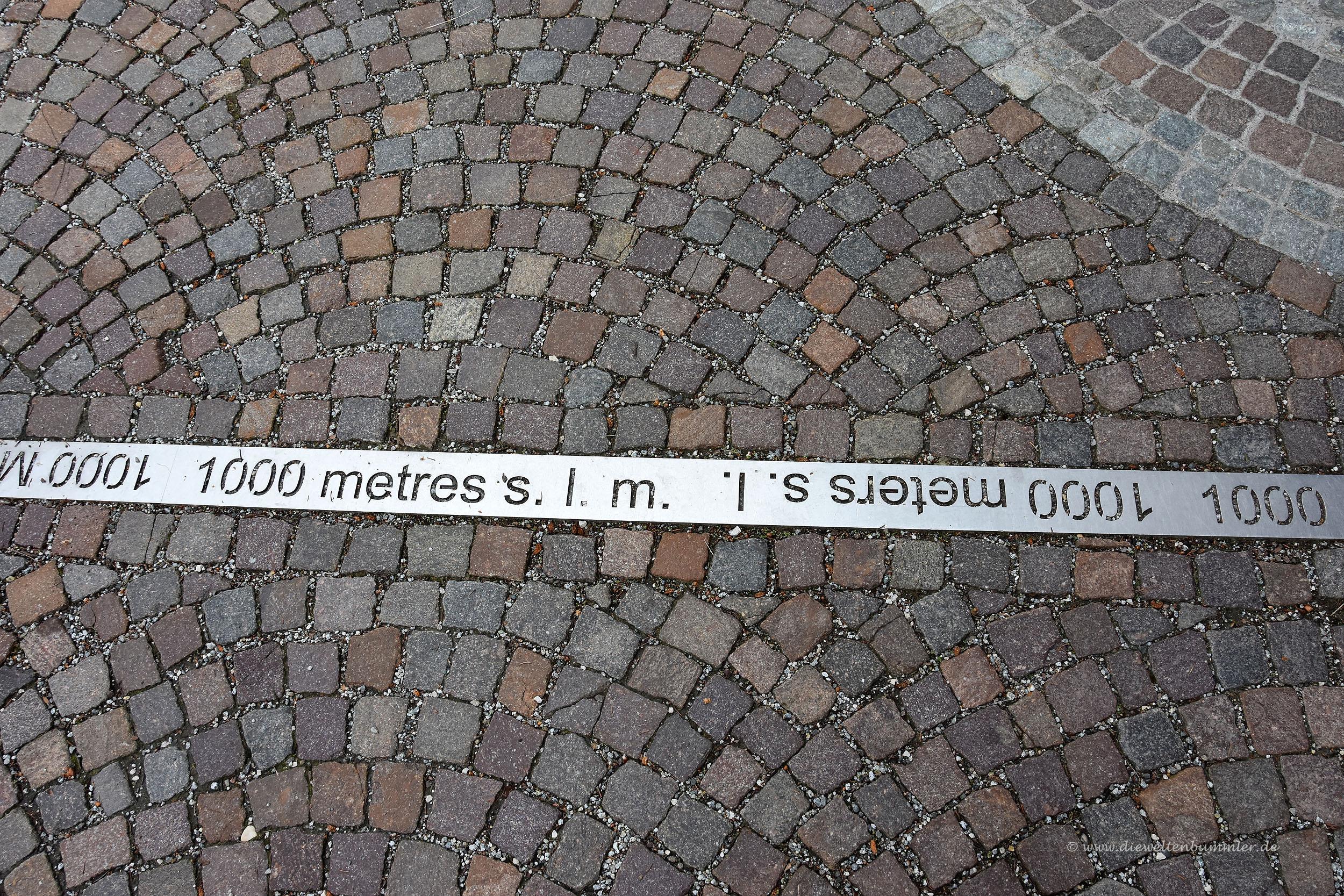 Wir sind höher als 1000 Meter