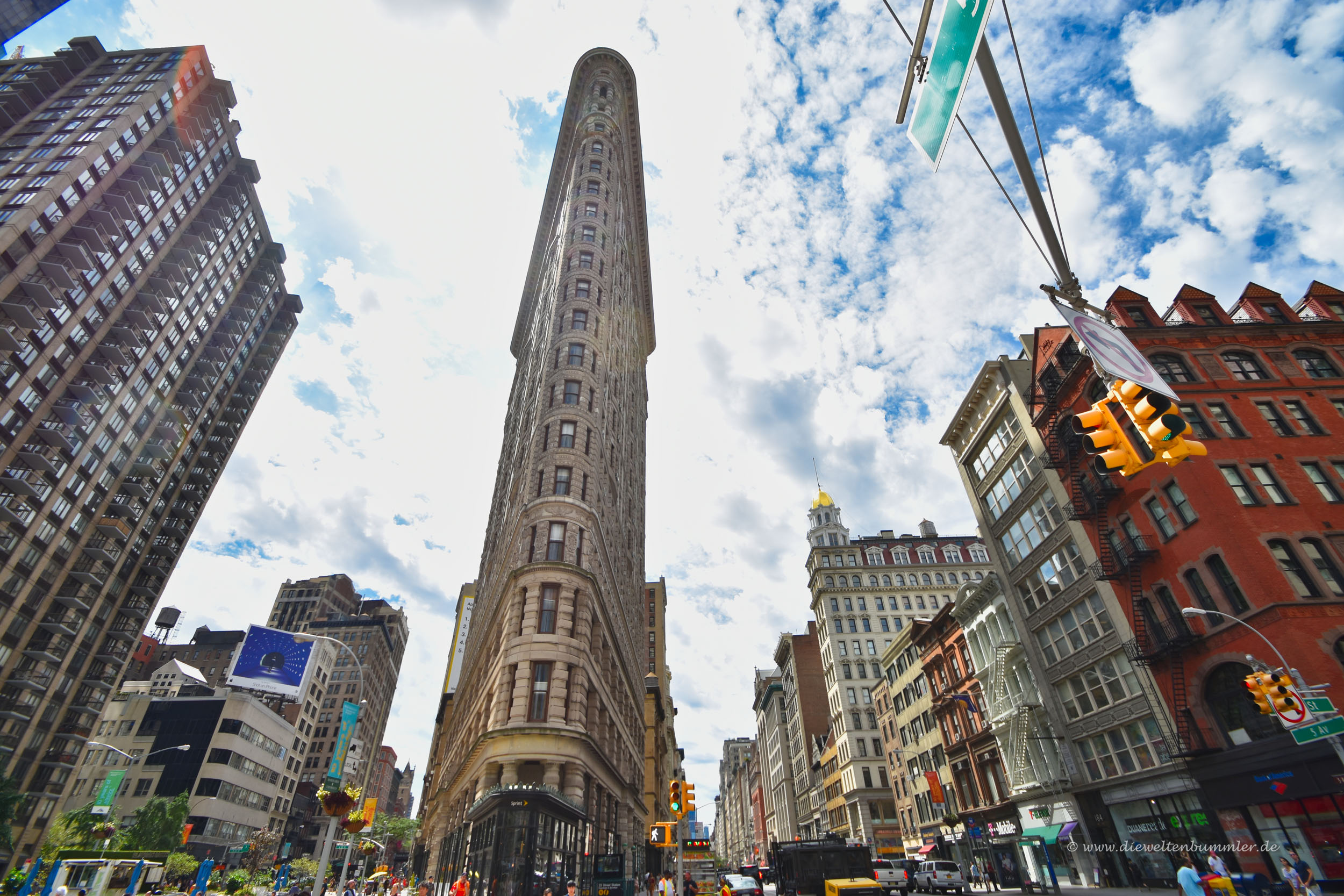 Das Flatiron Building am Broadway