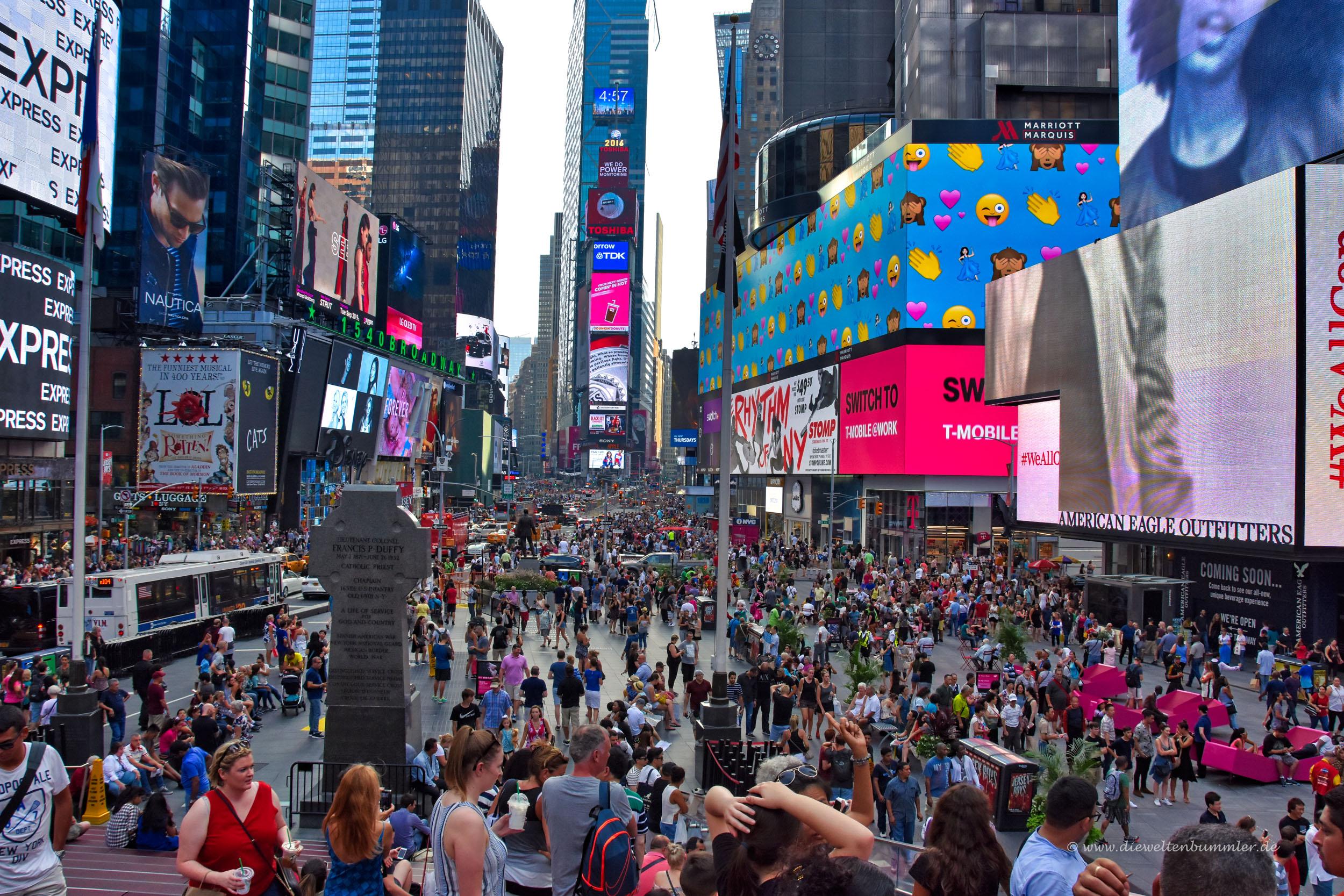 Der Times Square ist immer gut besucht