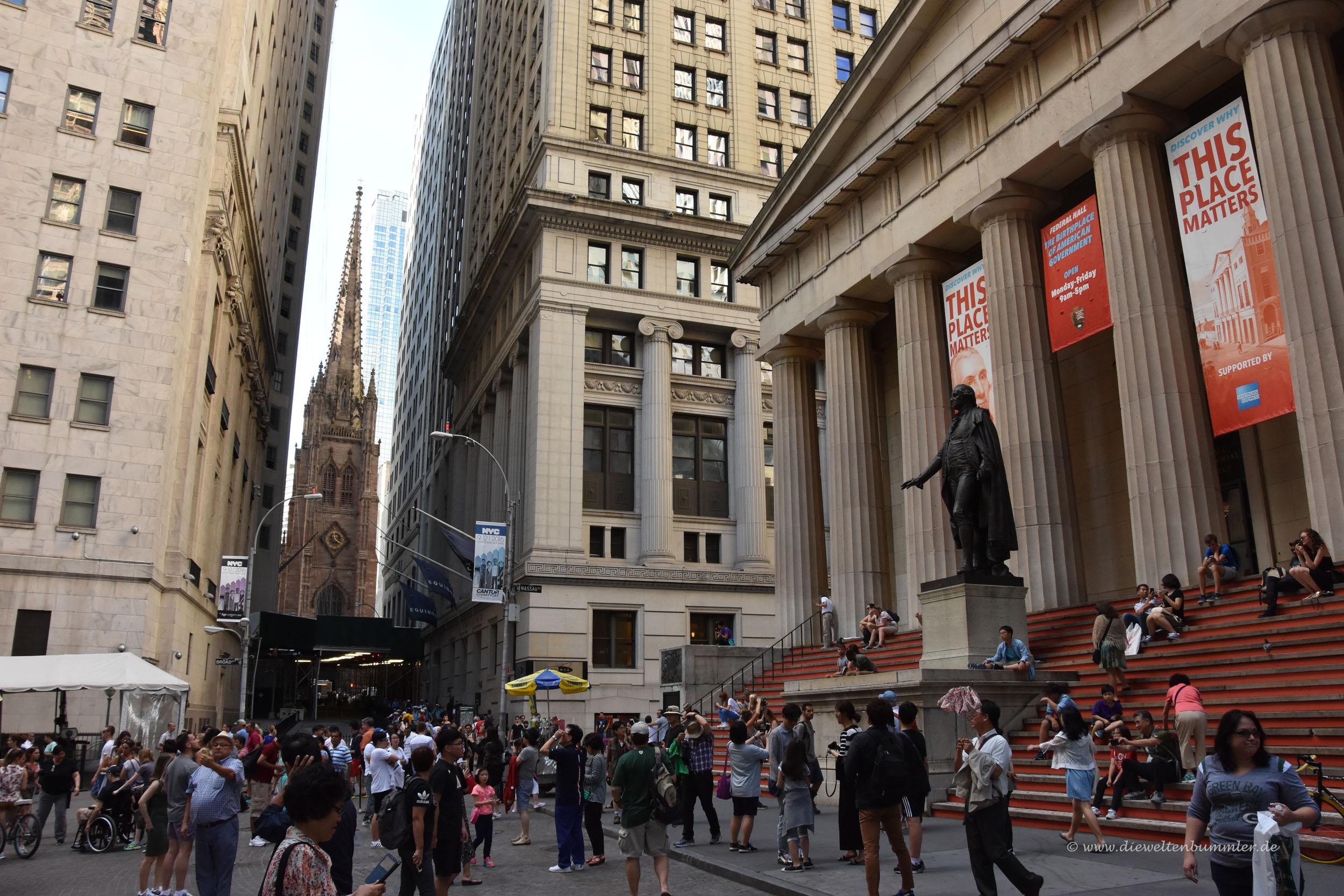 Die Wall Street im Börsenviertel