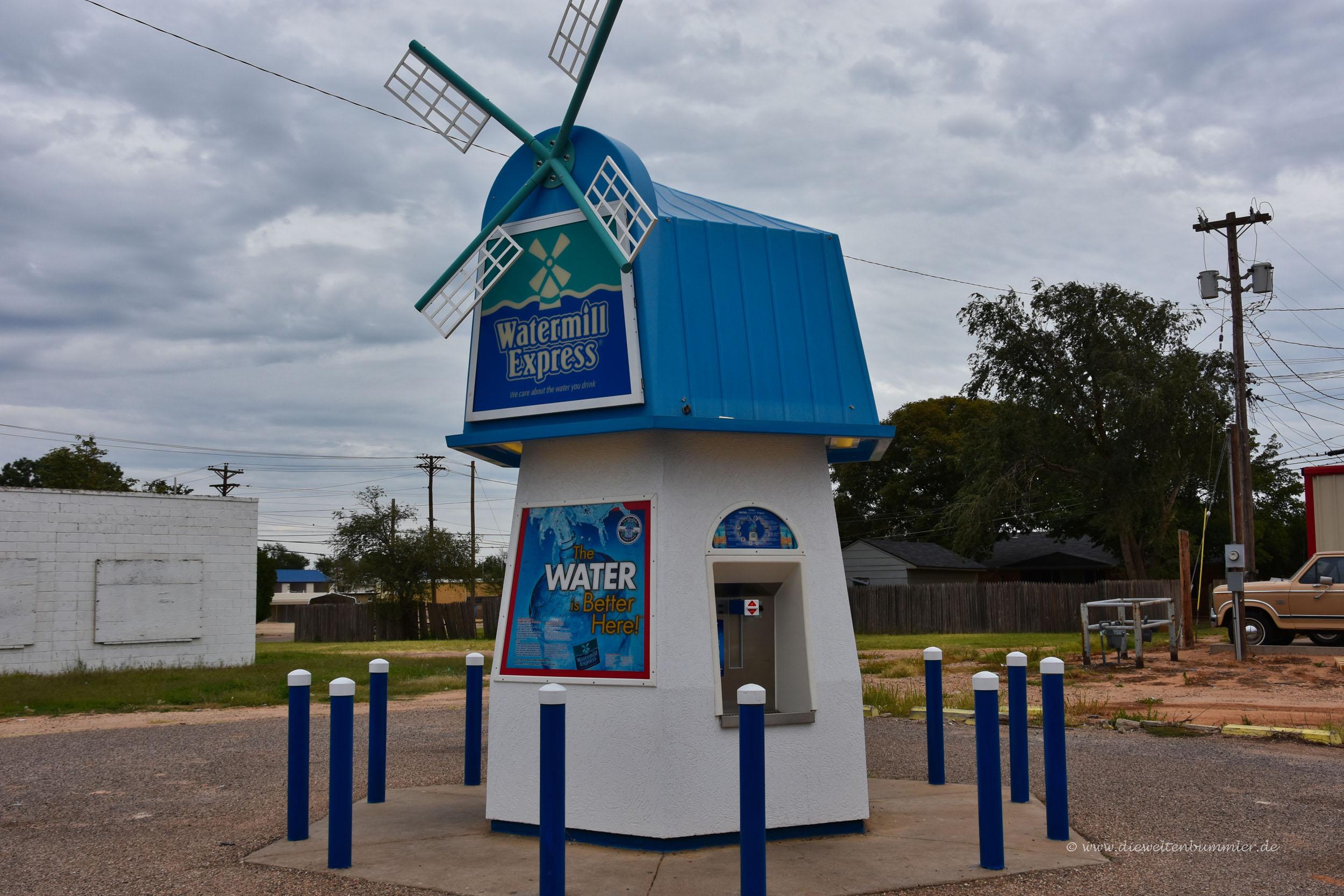 An dieser Windmühle gibt es immer Wasser