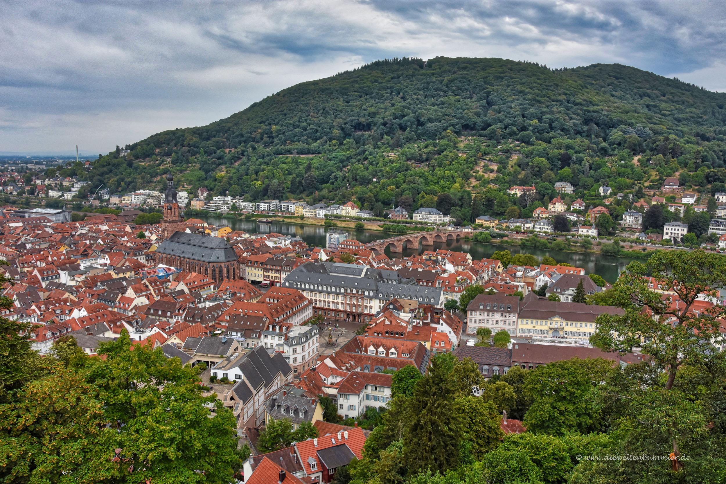 Ausblick über Heidelberg