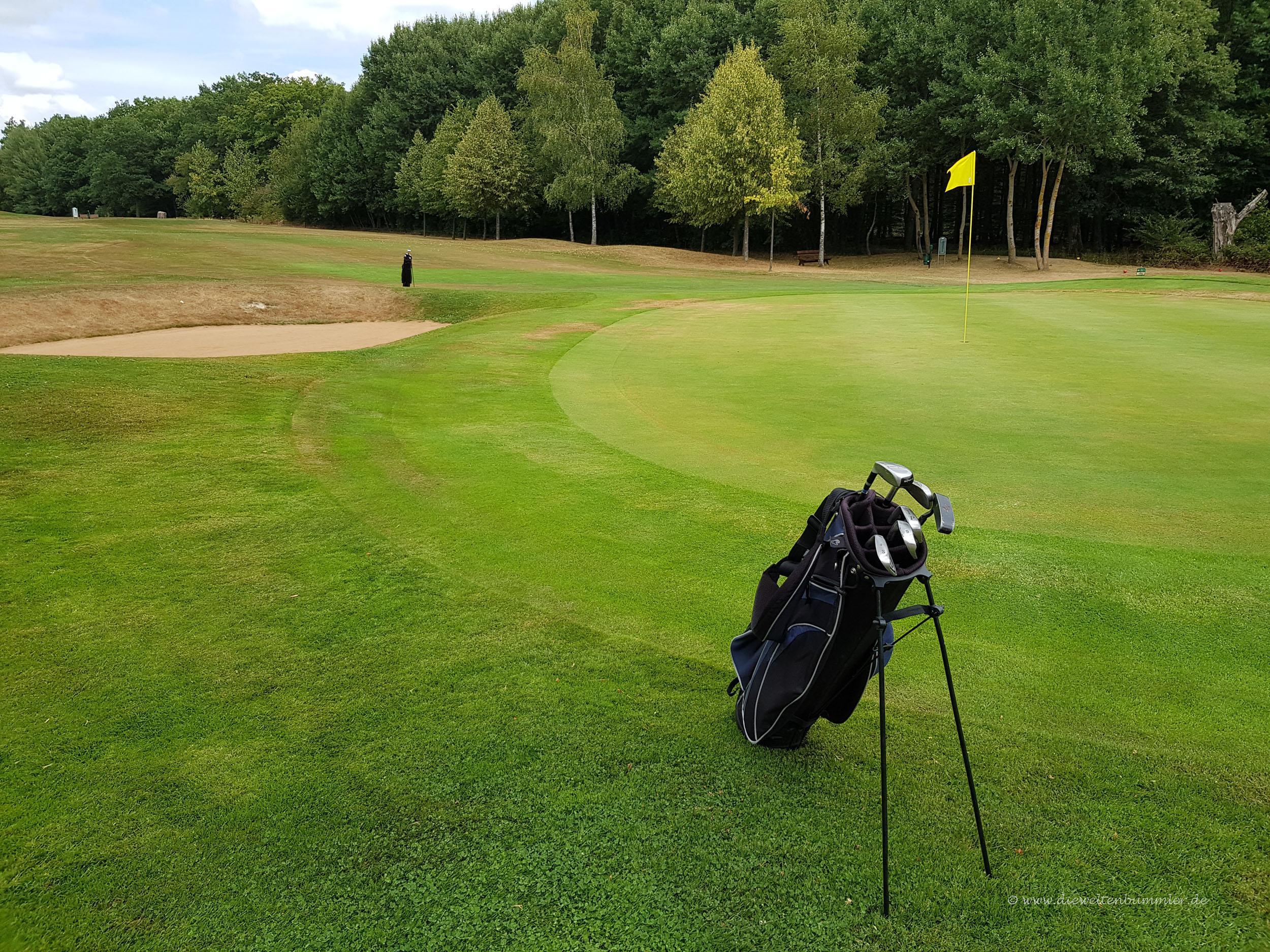 Unterwegs auf dem Golfplatz