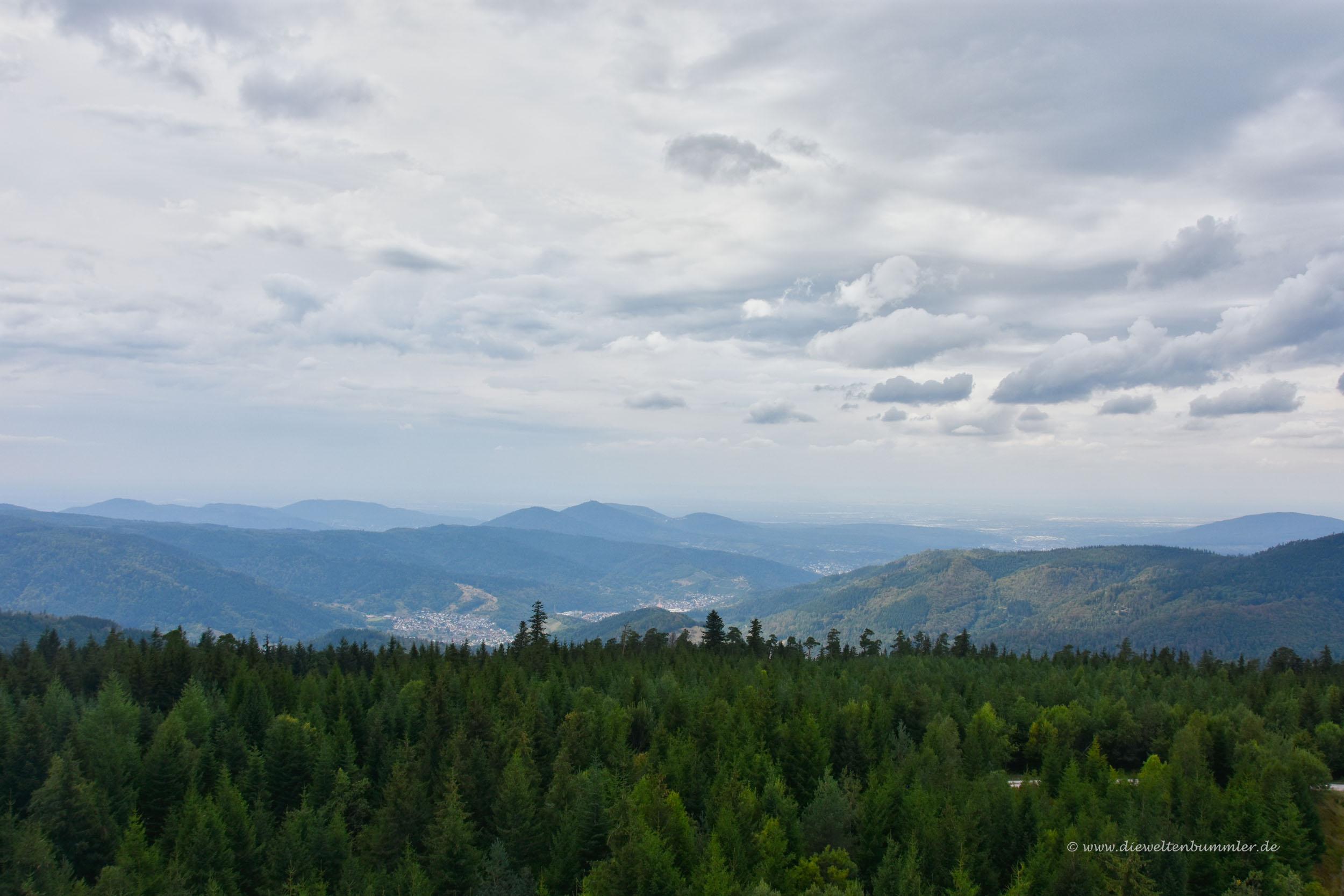 Ausblick auf den nördlichen Schwarzwald