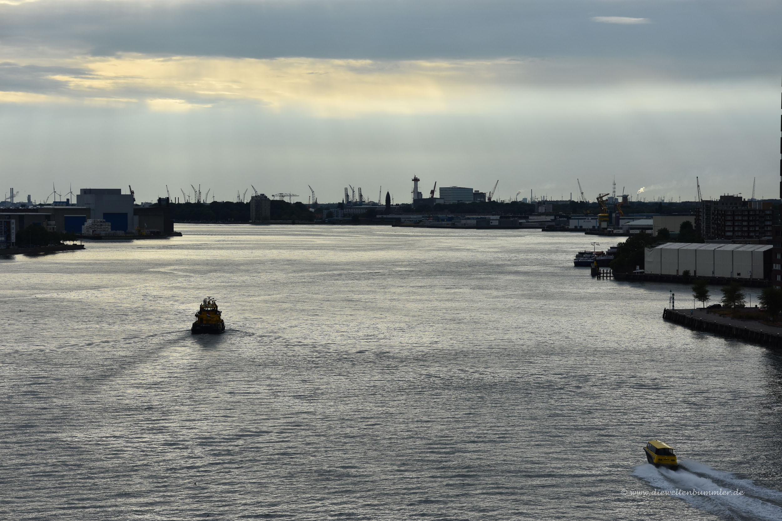 Unterwegs auf der Nieuwe Maas