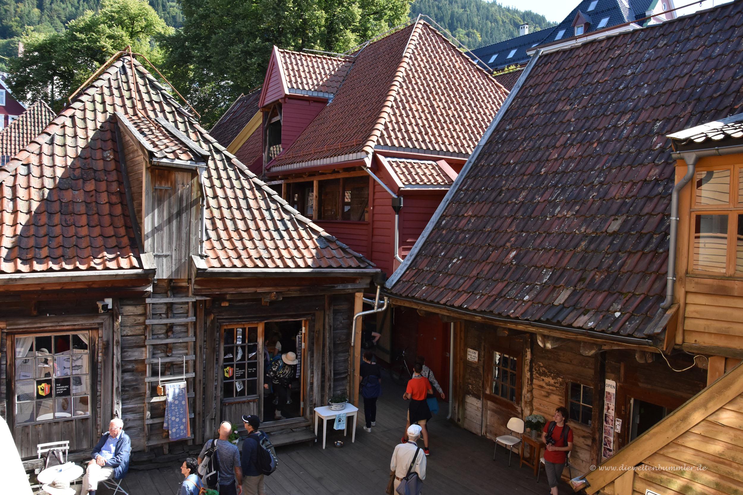Holzarchitektur in Bryggen