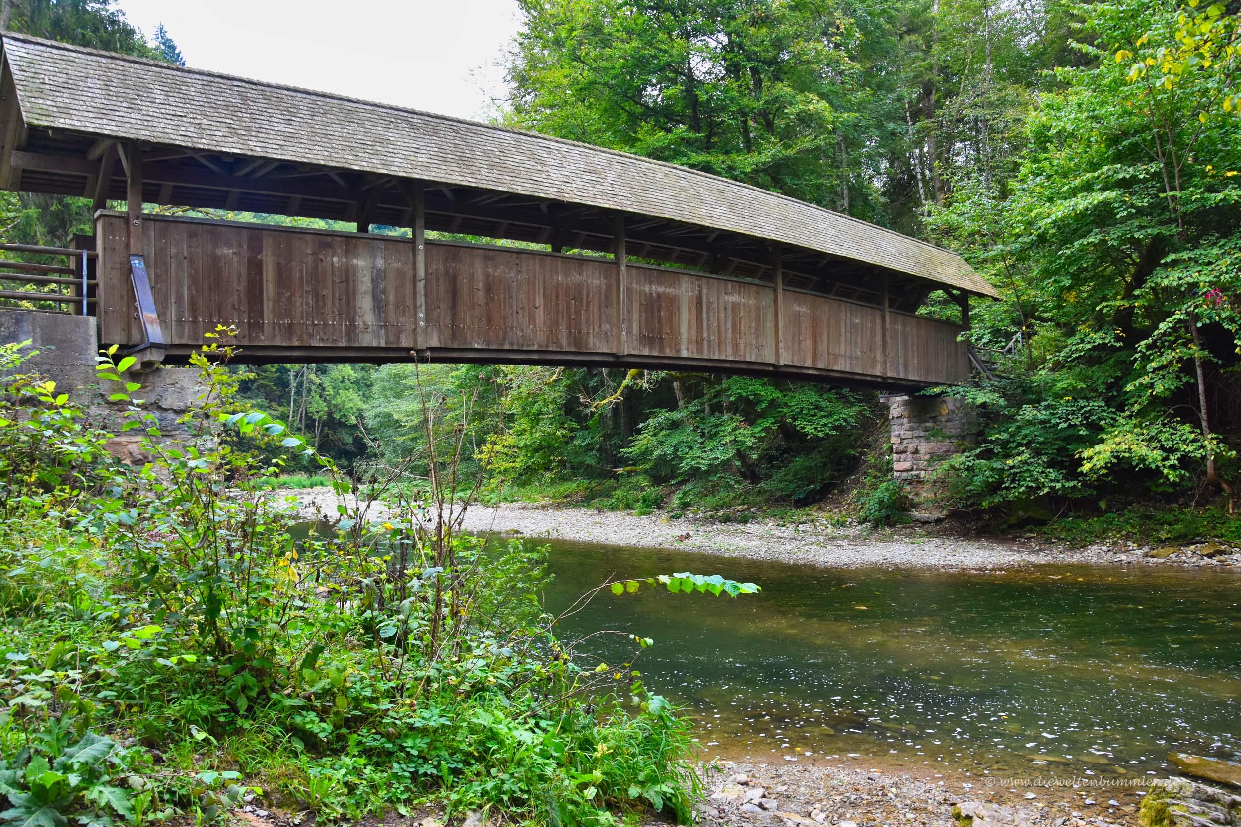 Holzbrücke in der Wutachschlucht