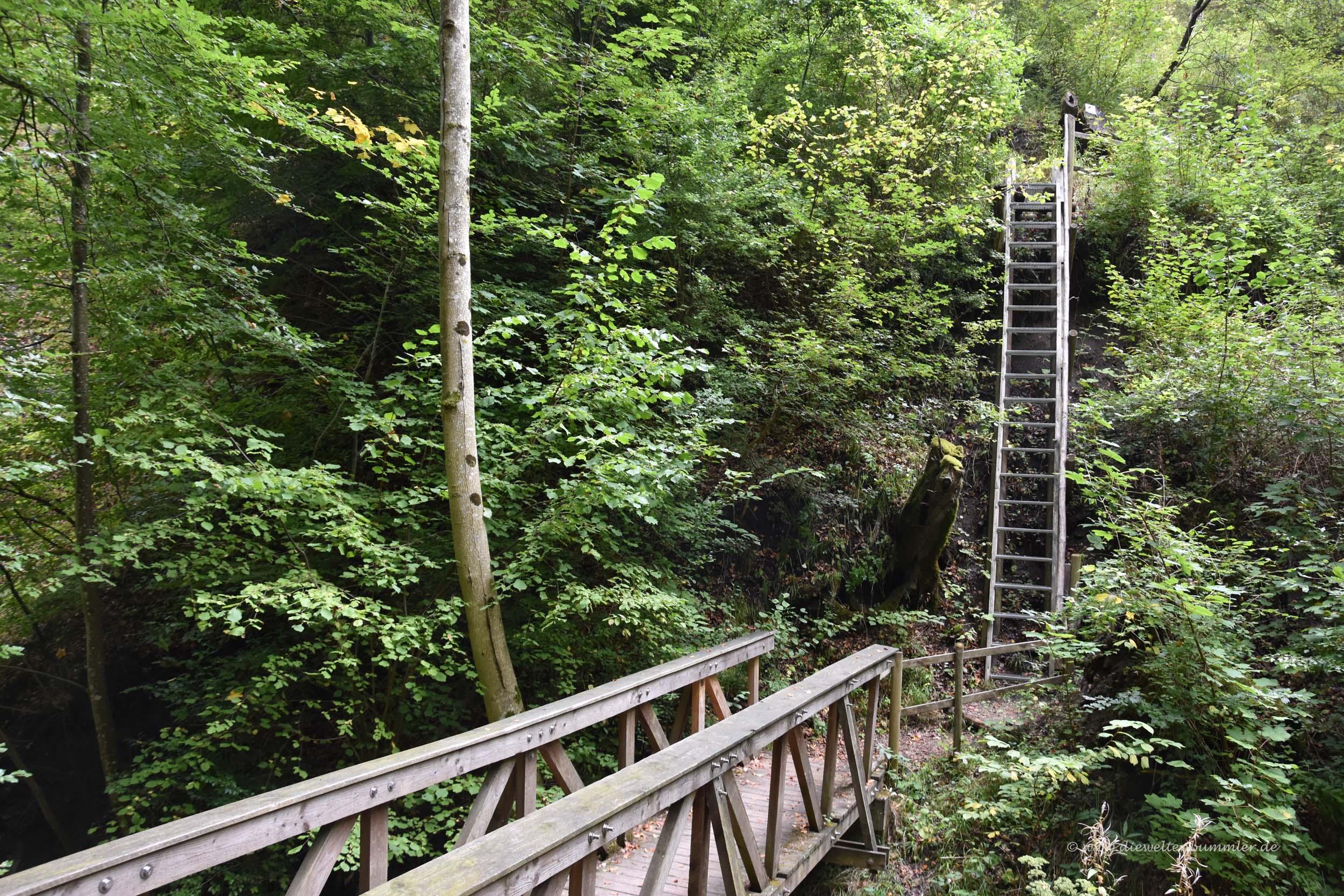 Brücke an den Schleifenbachwasserfällen