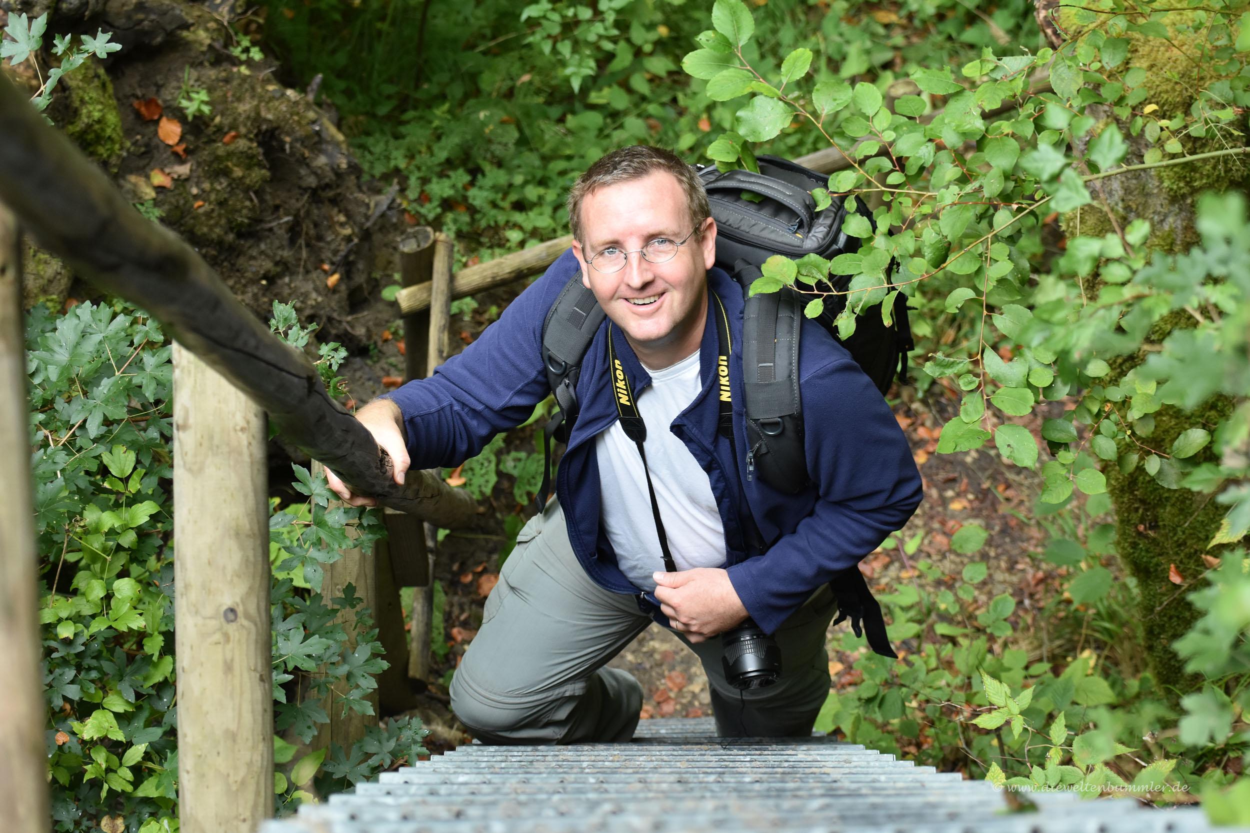 Michael Moll auf dem Wanderweg